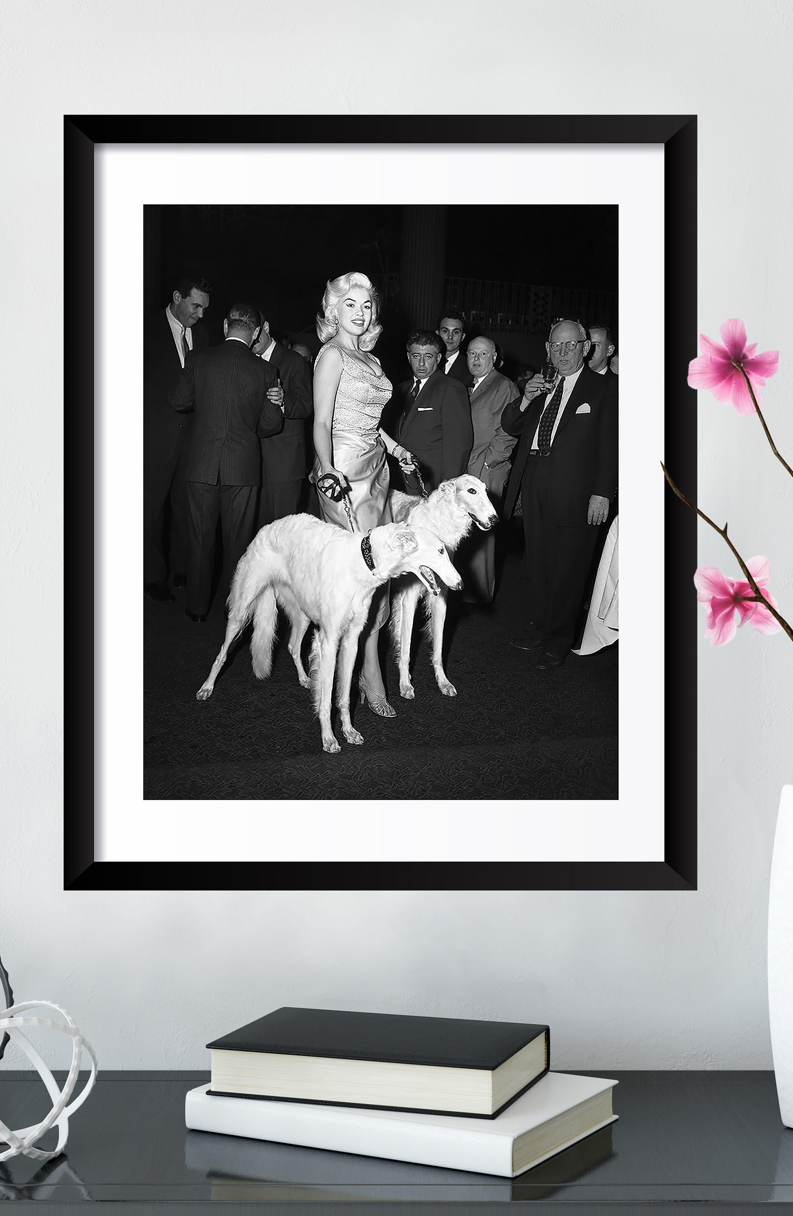 Jayne Mansfield Fine Art Print,                             Alternate thumbnail 3, color,                             Black