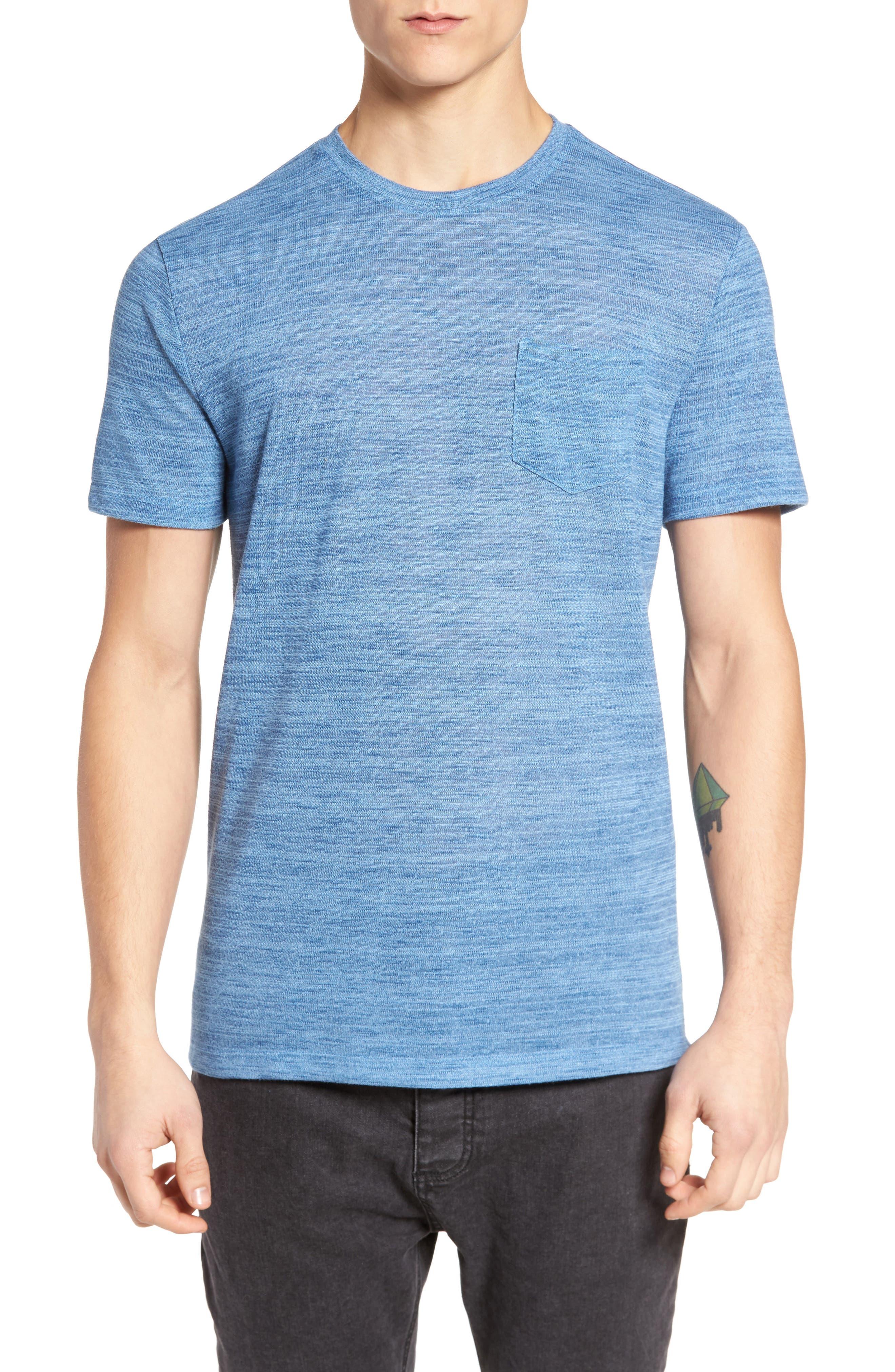 Slubbed Pocket T-Shirt,                         Main,                         color, Blue Canal