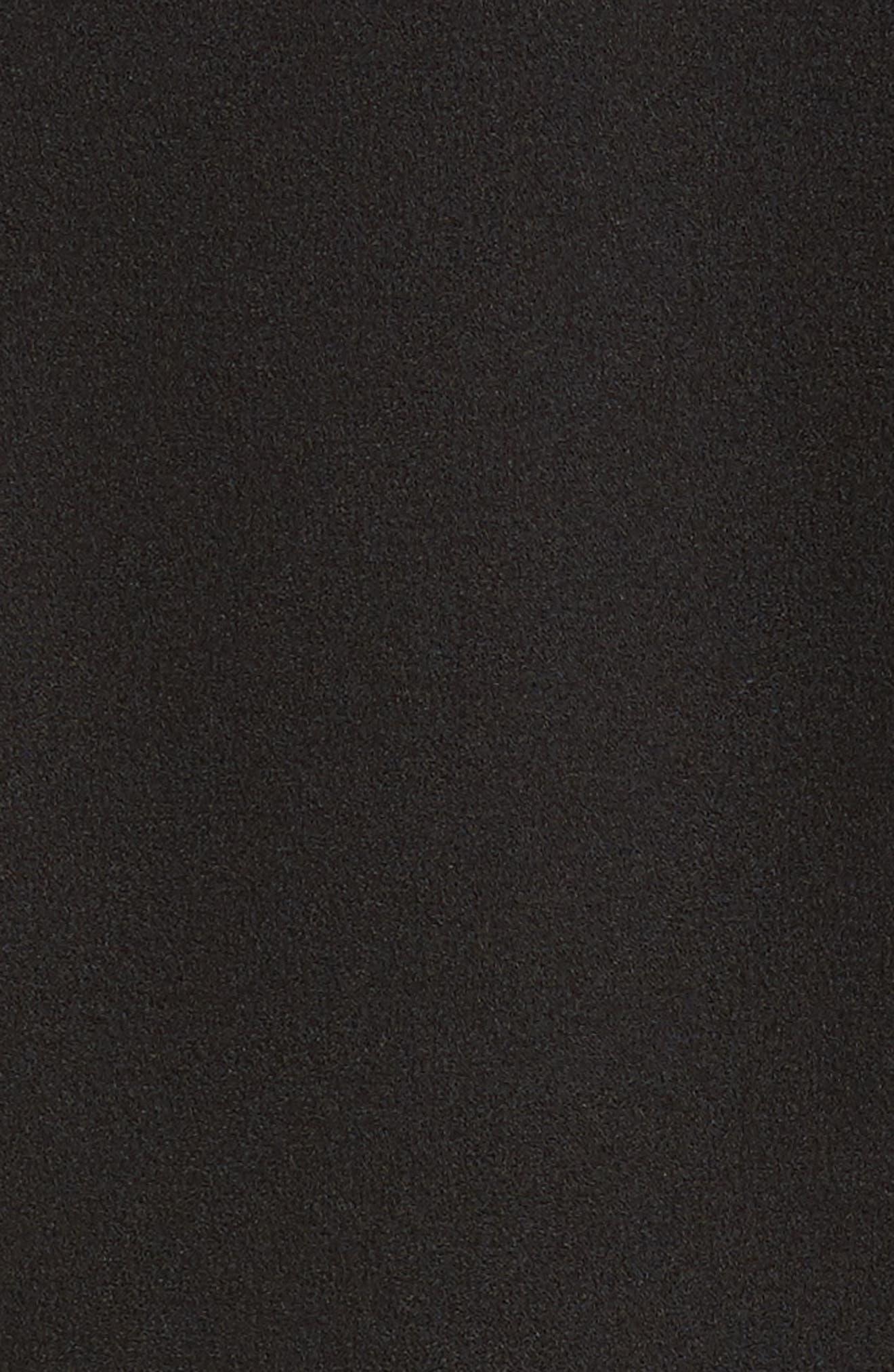 Kilkenny Frill Sleeve Minidress,                             Alternate thumbnail 6, color,                             Black
