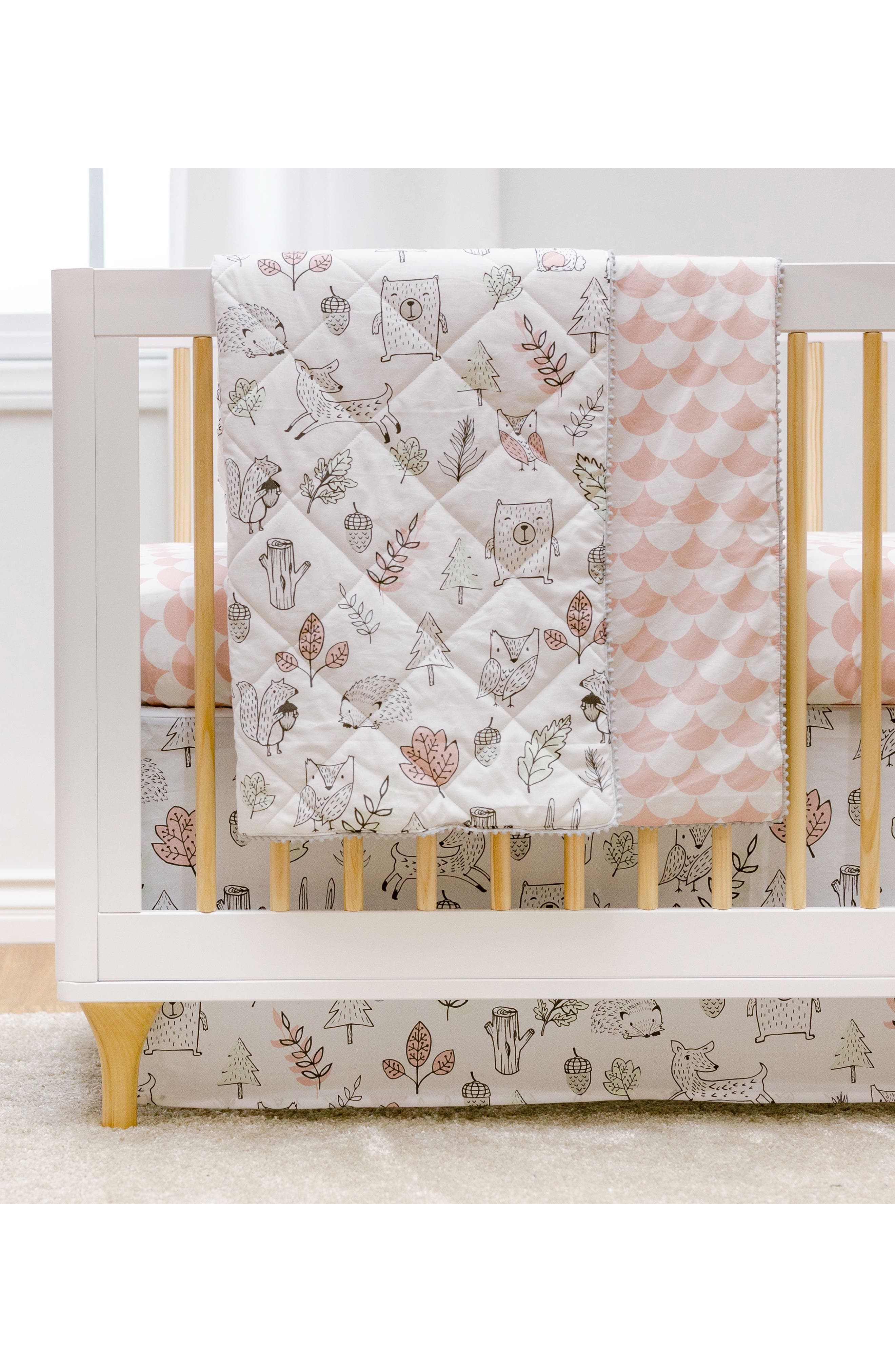 Woodlands 4-Piece Crib Bedding Set,                             Alternate thumbnail 3, color,                             Kayden - Woodlands