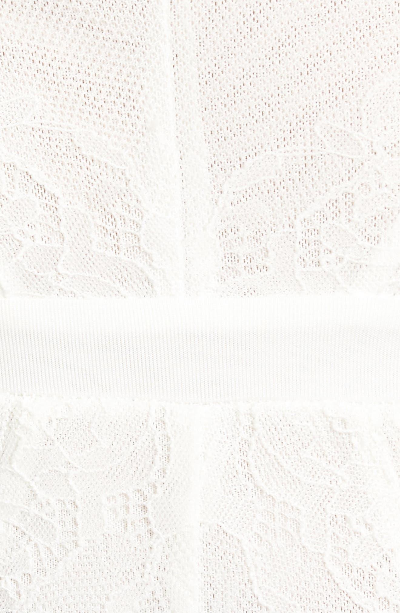 Corin Power Mesh Bodysuit,                             Alternate thumbnail 5, color,                             Blanc