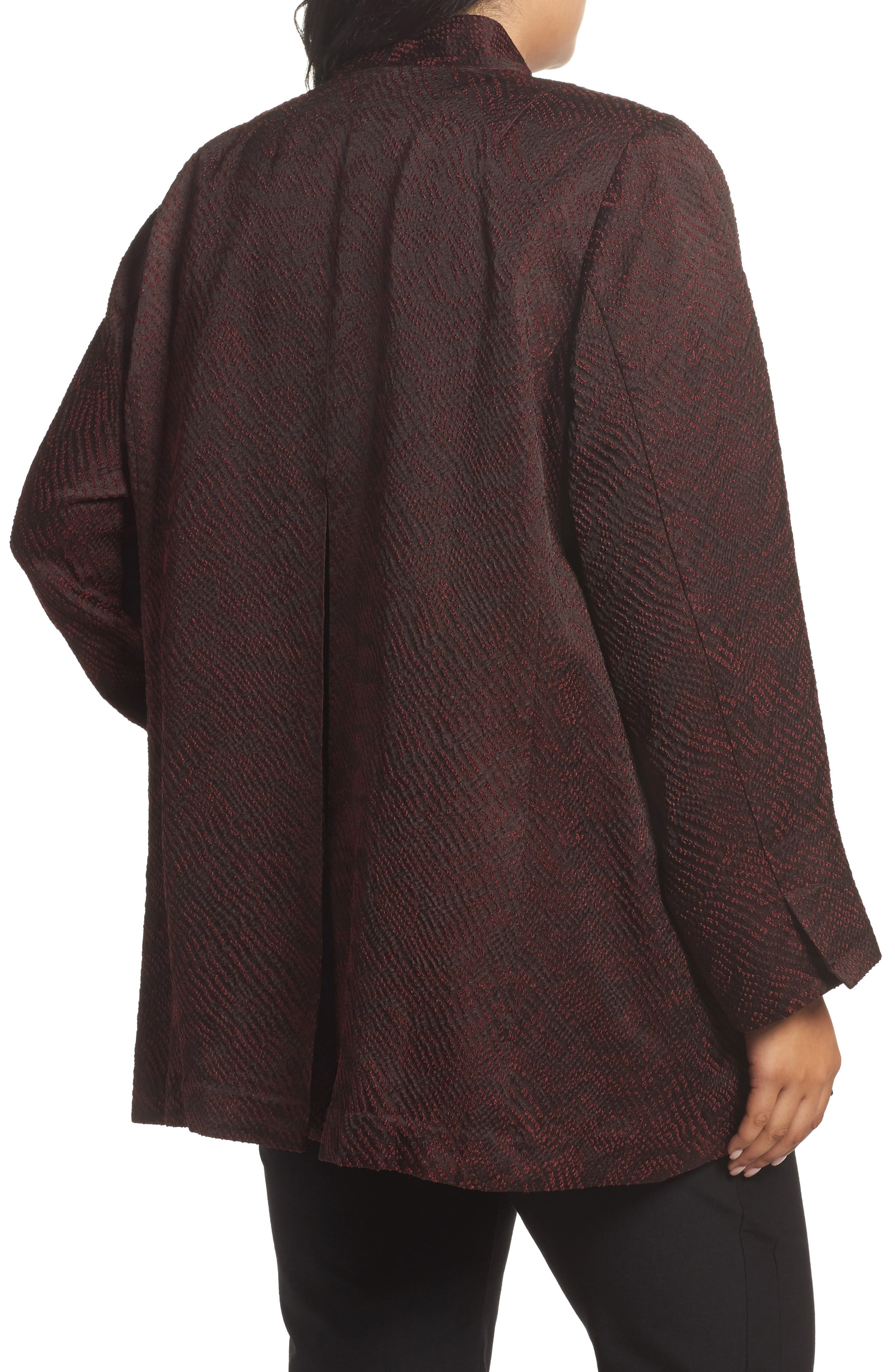 Alternate Image 2  - Eileen Fisher Silk Blend Jacquard Jacket (Plus Size)