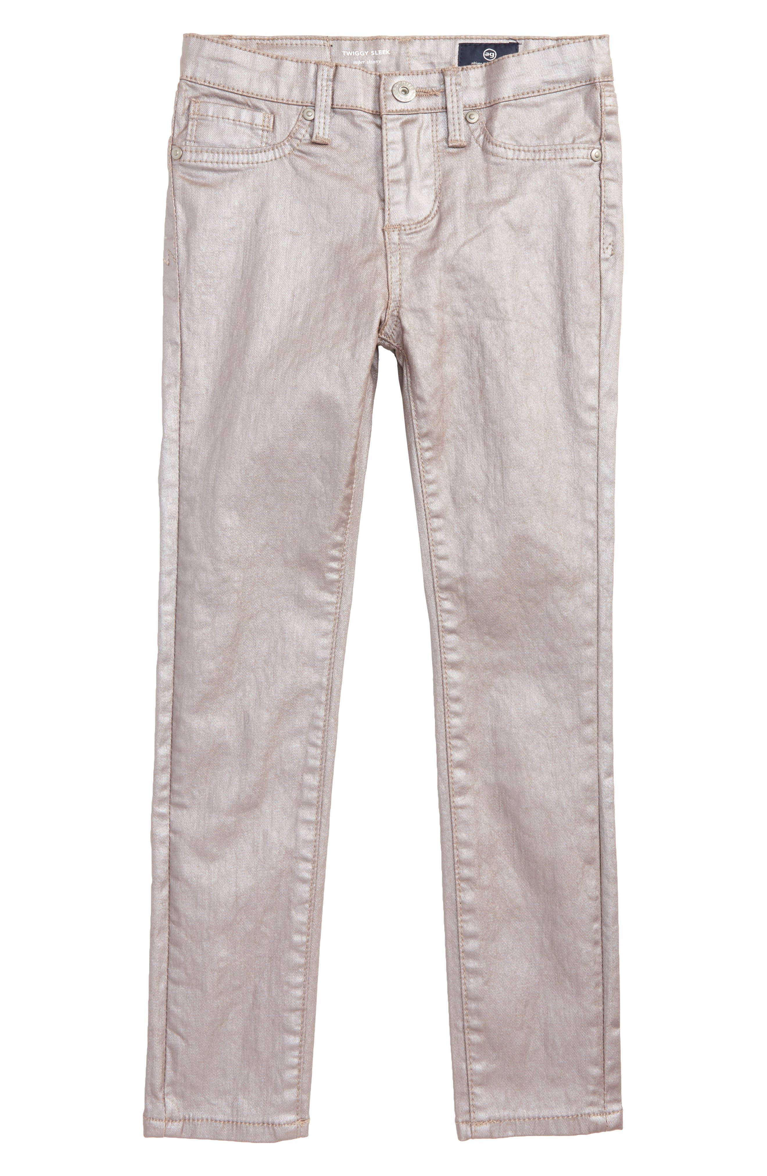 The Sleek Twiggy Skinny Ankle Jeans,                         Main,                         color, Rose Smoke