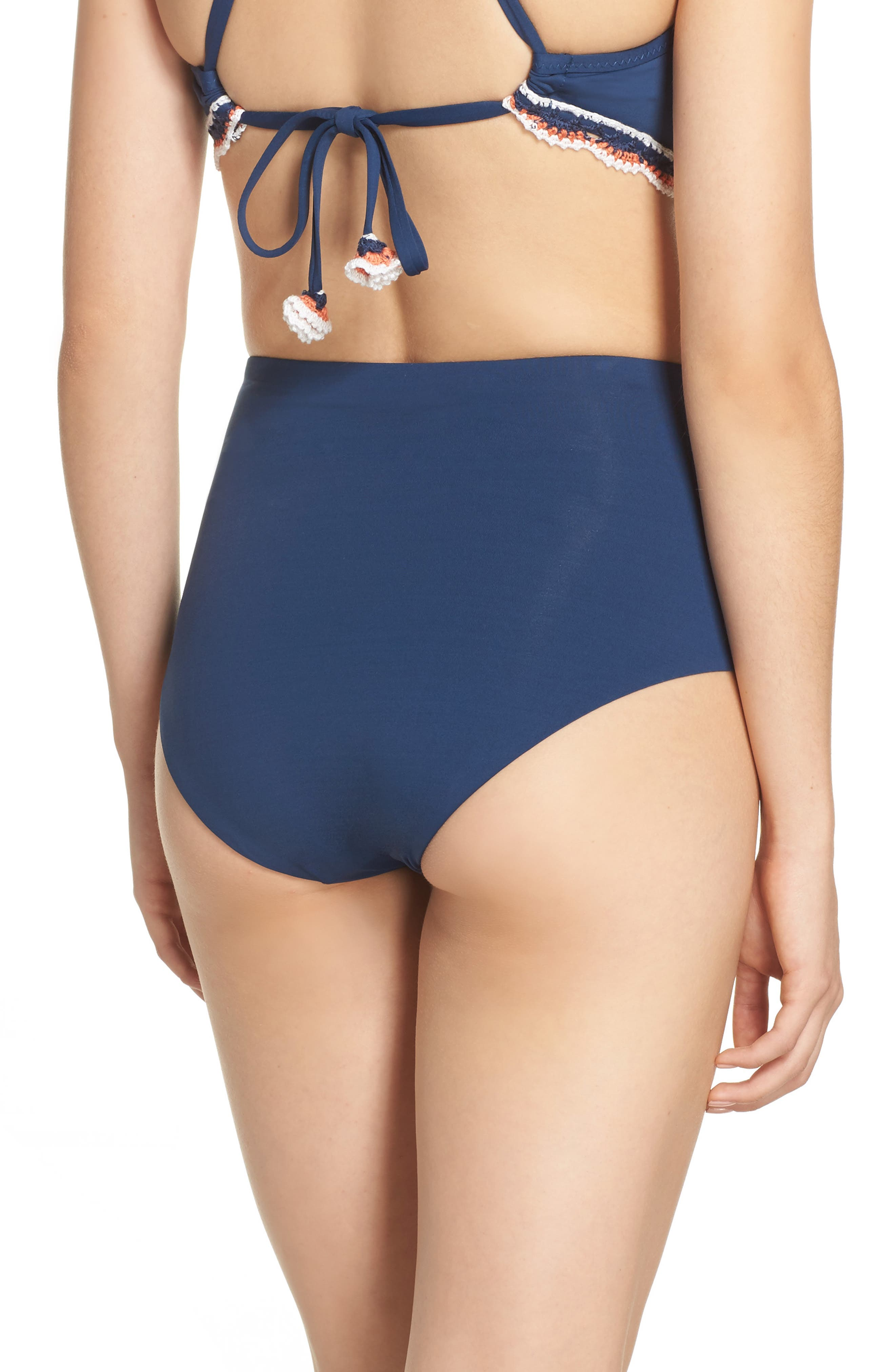 Medina High Waist Bikini Bottoms,                             Alternate thumbnail 2, color,                             Indigo
