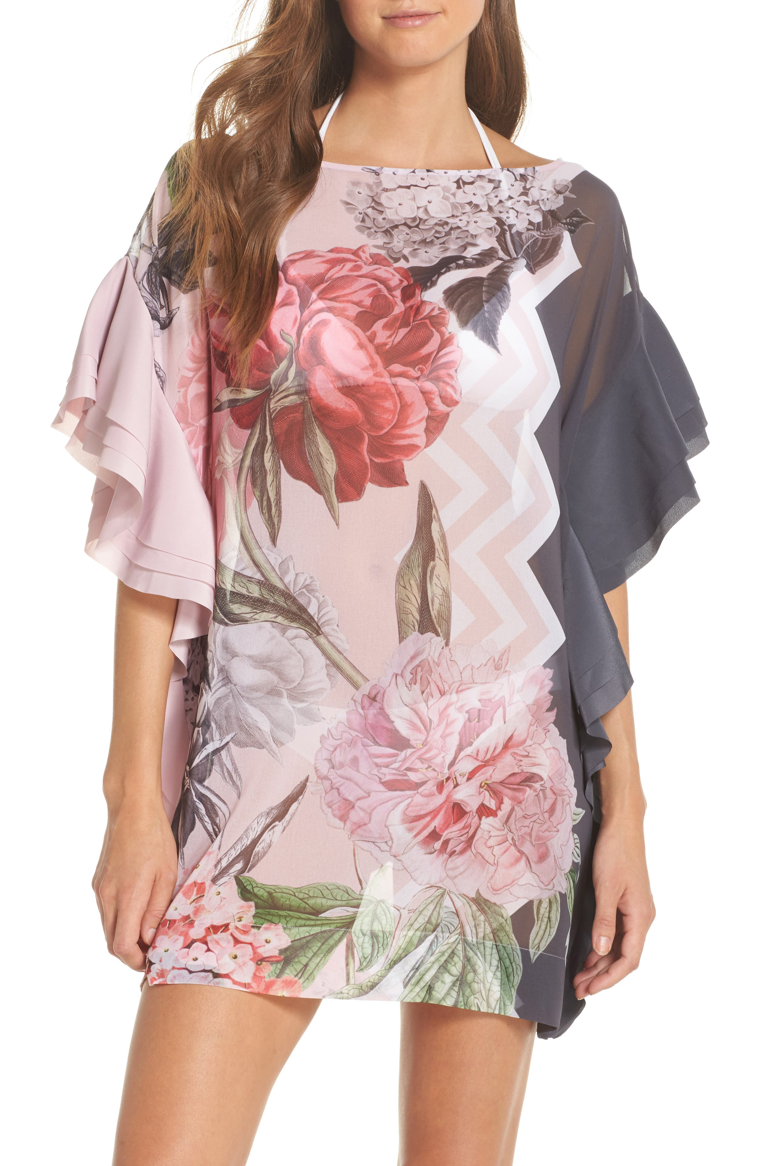 Ted Baker London Palace Gardens Ruffle Cover-Up Dress