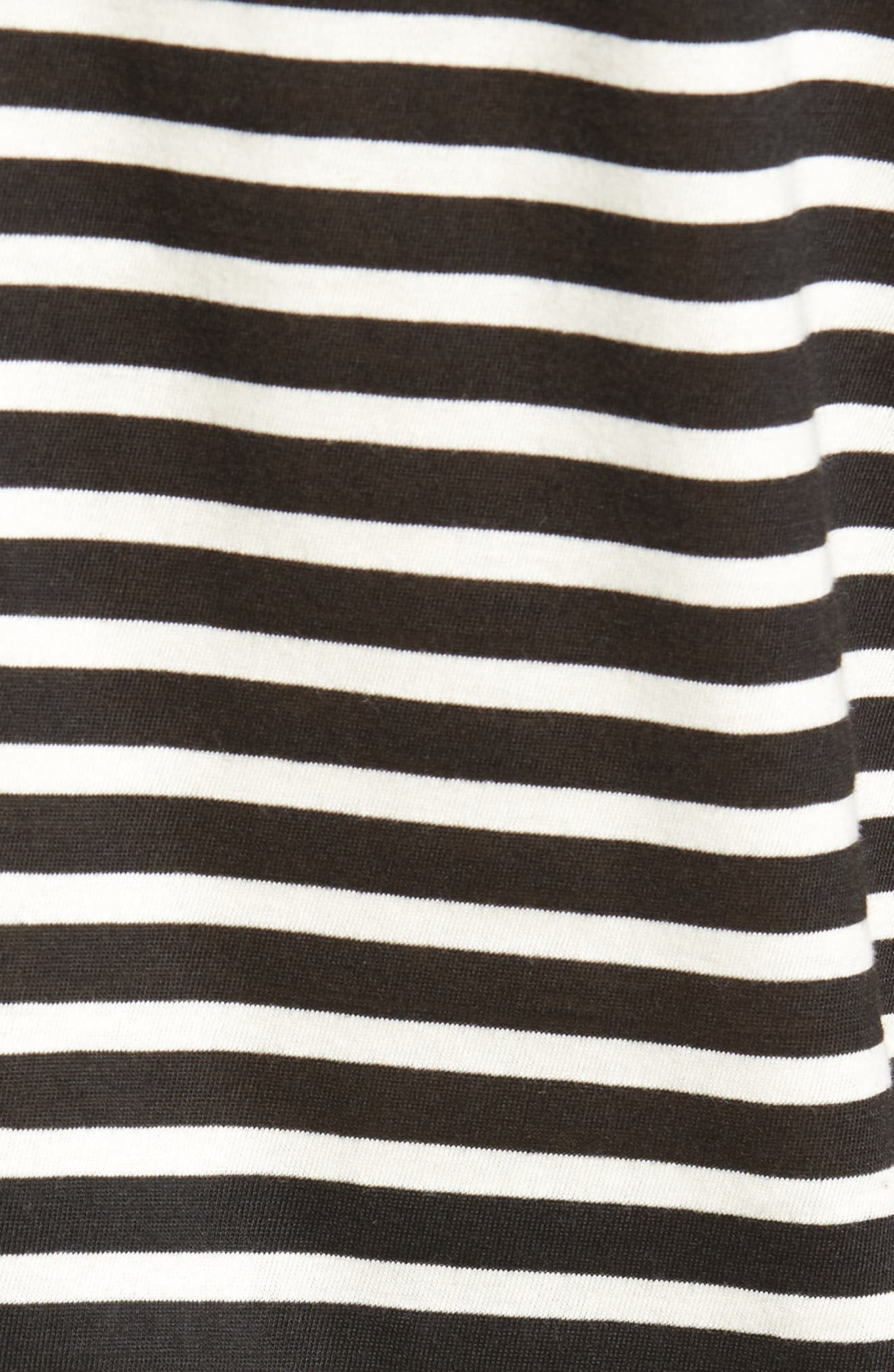 Spliced Stripe T-Shirt,                             Alternate thumbnail 5, color,                             Black Rock- White Stripe