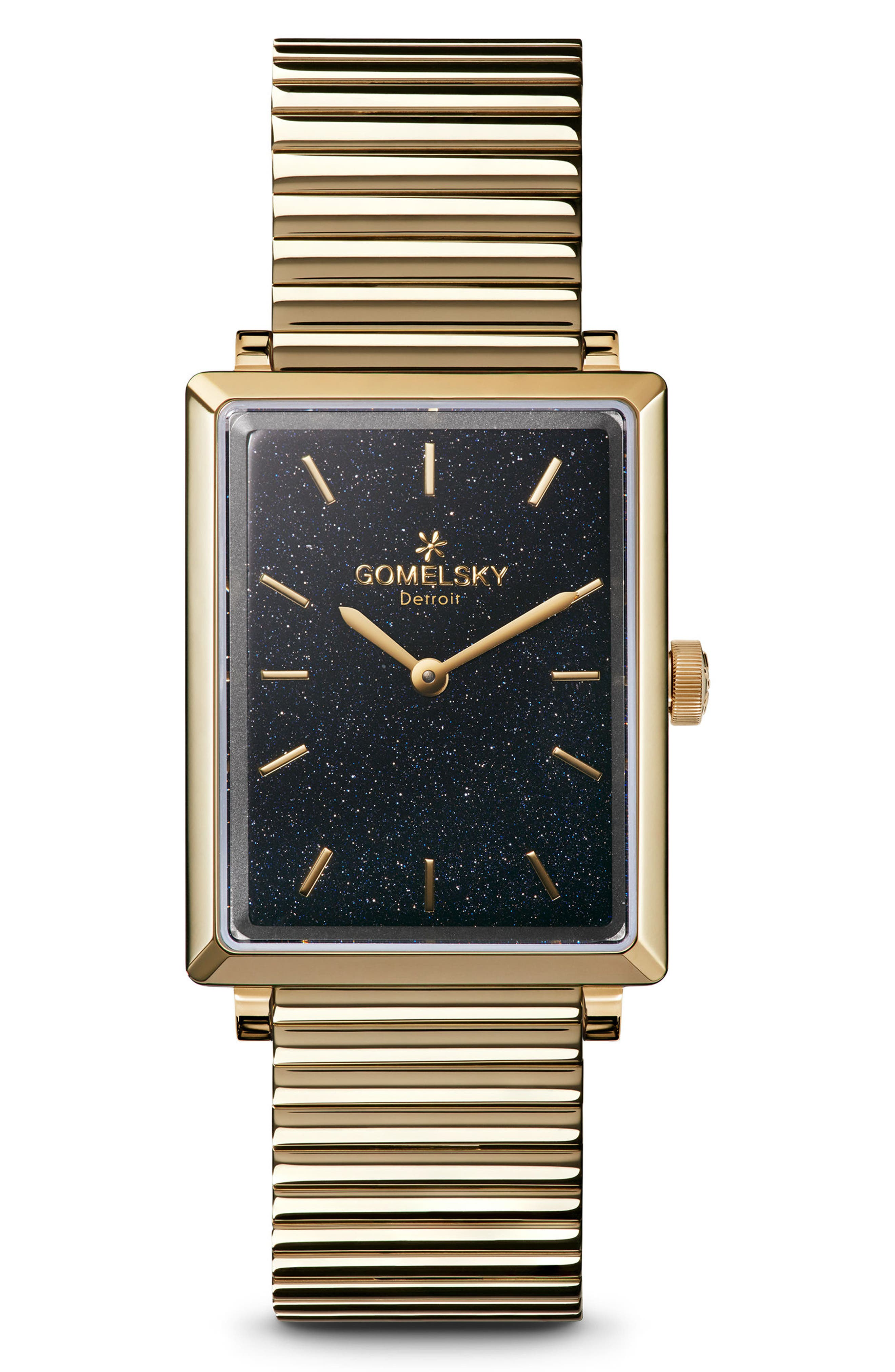 The Shirley Fromer Bracelet Watch, 32mm x 25mm,                             Main thumbnail 1, color,                             Gold/ Sandstone/ Gold