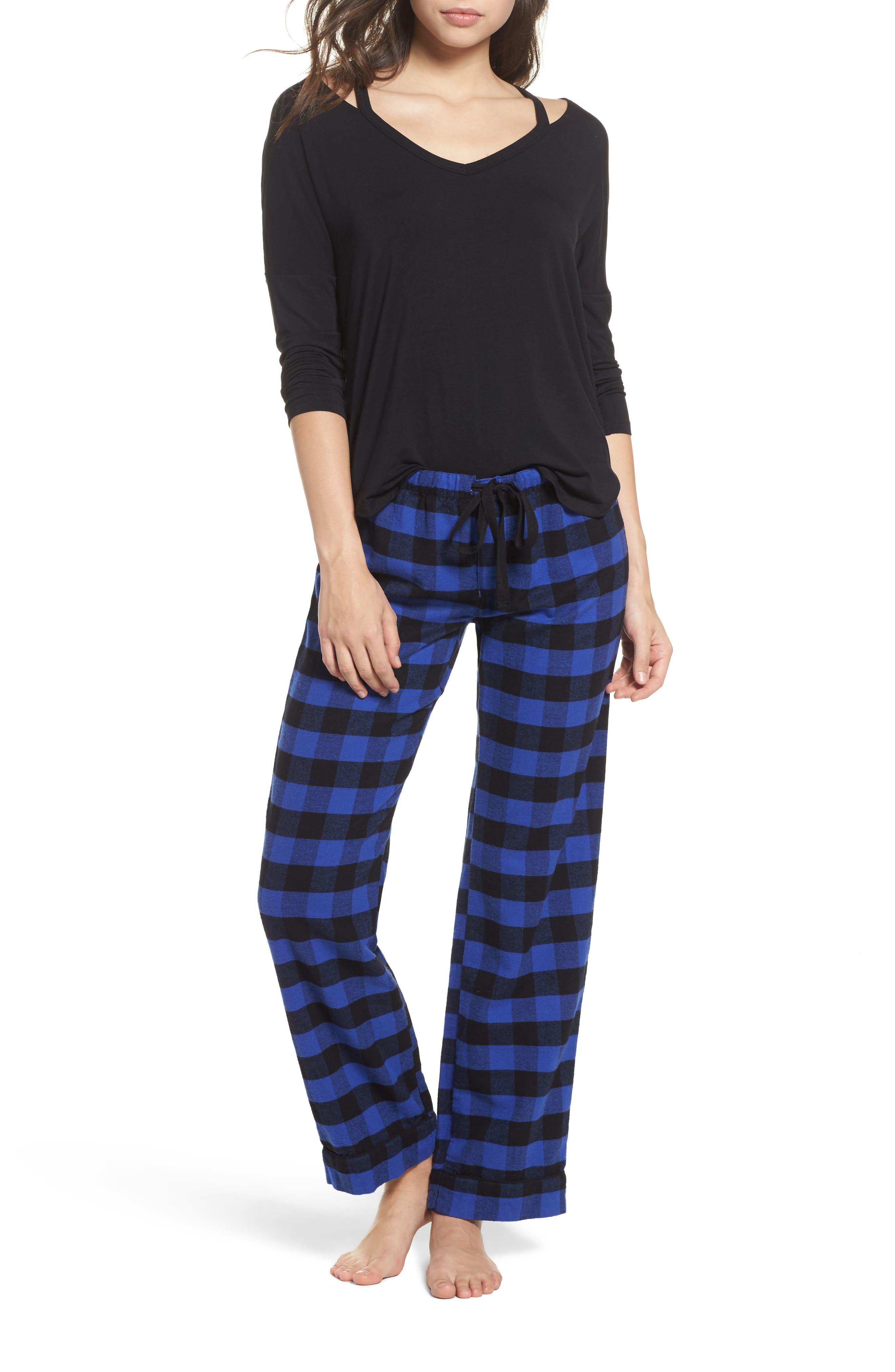Pajama Pants,                             Alternate thumbnail 6, color,                             Royal