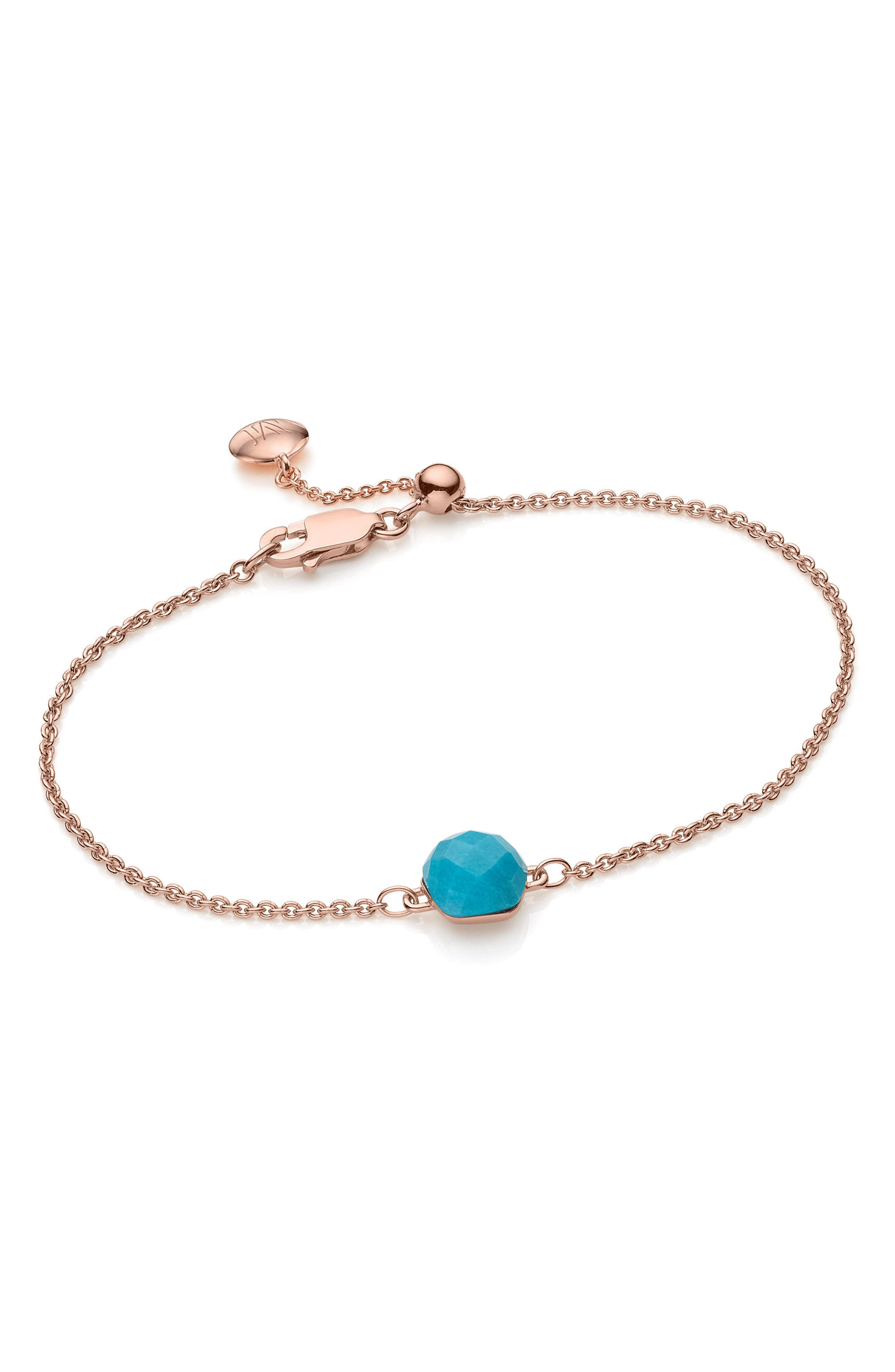 Nura Mini Nugget Bracelet,                         Main,                         color, Turquoise