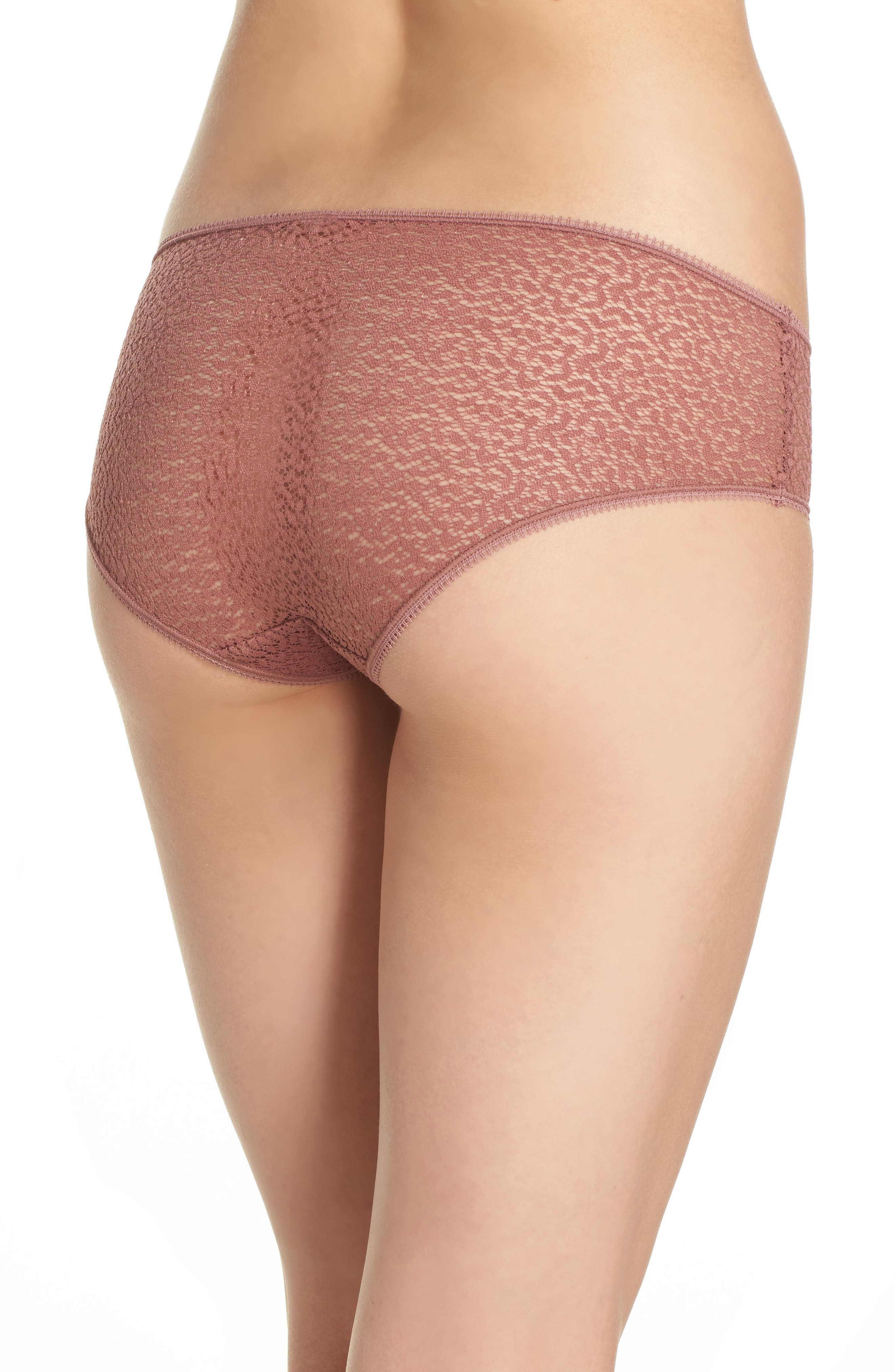 Modern Lace Hipster Panties,                             Alternate thumbnail 2, color,                             Rosewood 7Nq