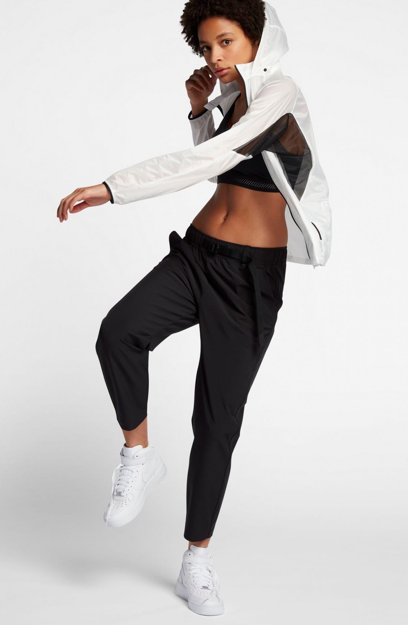 NikeLab Essentials Women's Stretch Woven Pants,                             Alternate thumbnail 2, color,                             Black/ Black