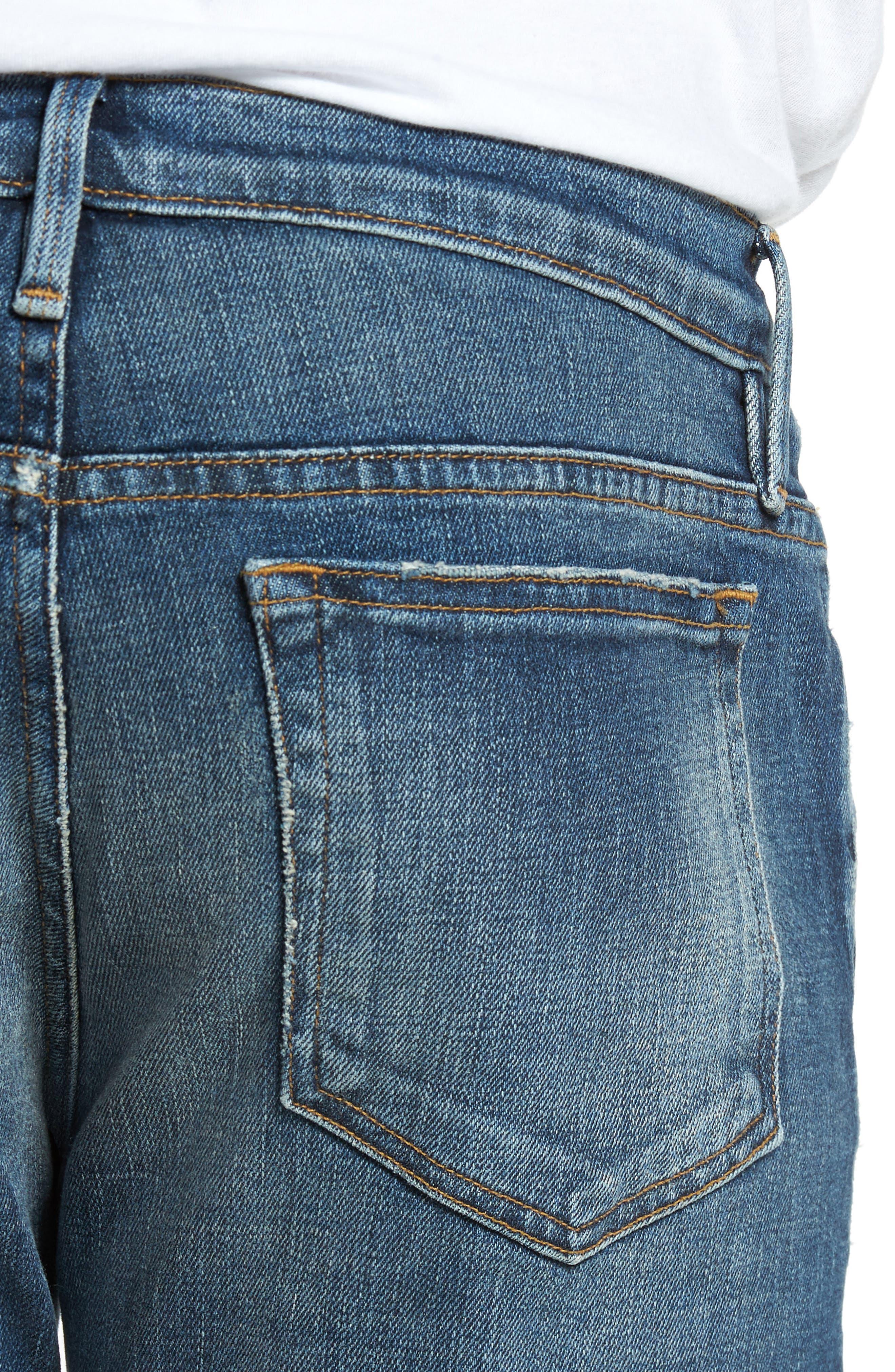 L'Homme Slim Fit Jeans,                             Alternate thumbnail 4, color,                             Salt Lake