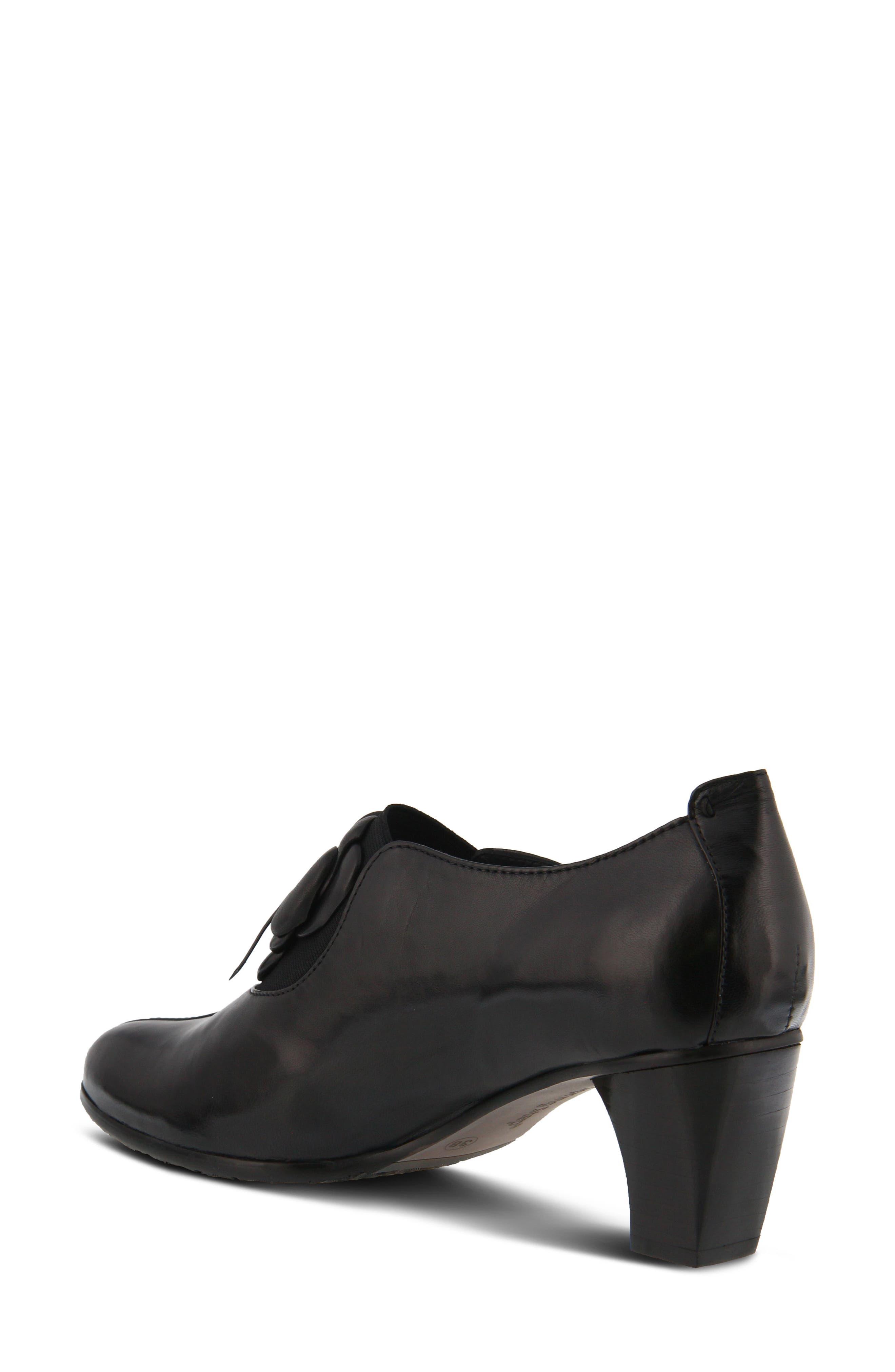Evelina Pump,                             Alternate thumbnail 2, color,                             Black Leather