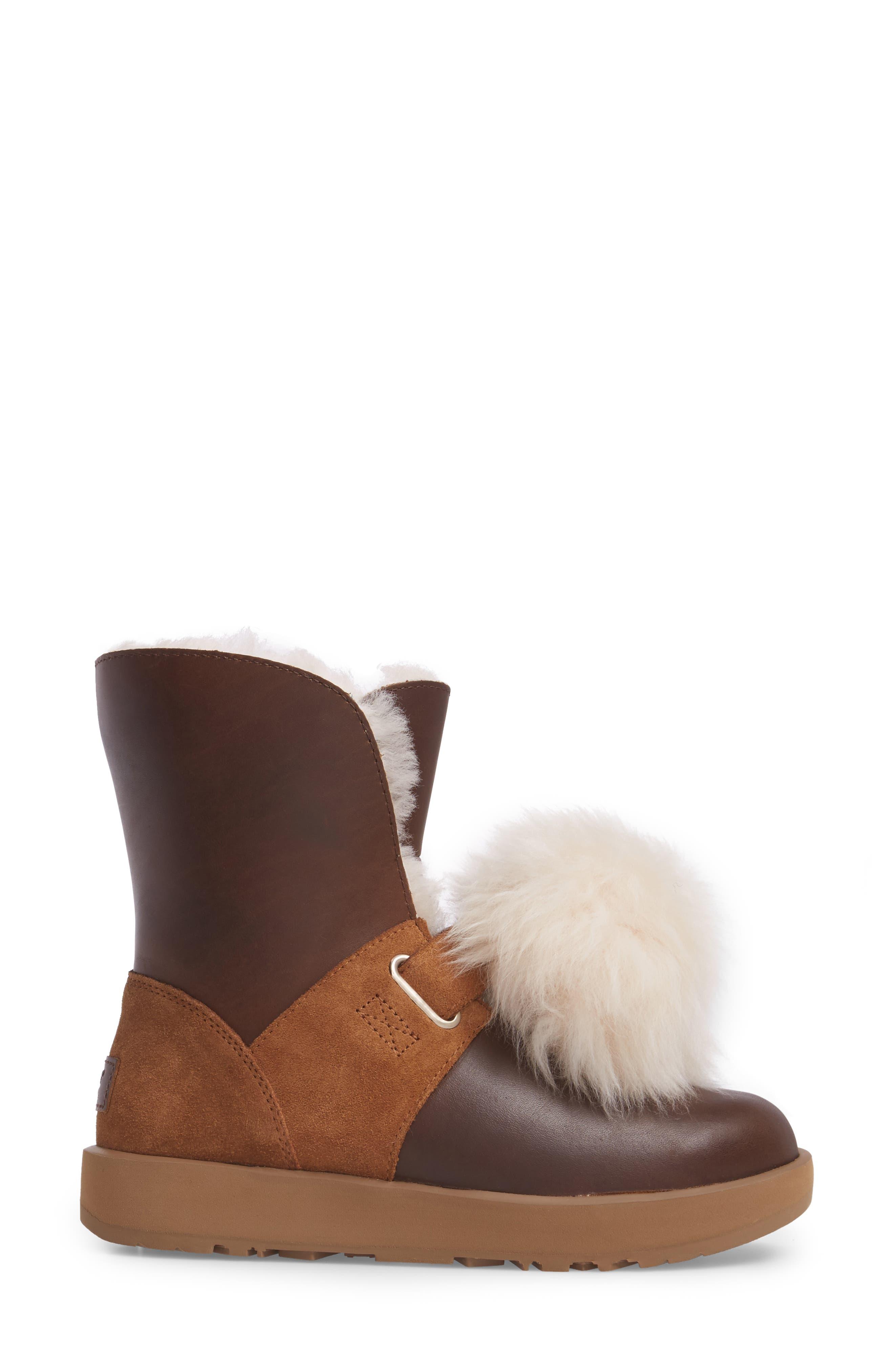 Alternate Image 3  - UGG® Isley Genuine Shearling Pompom Waterproof Boot (Women)