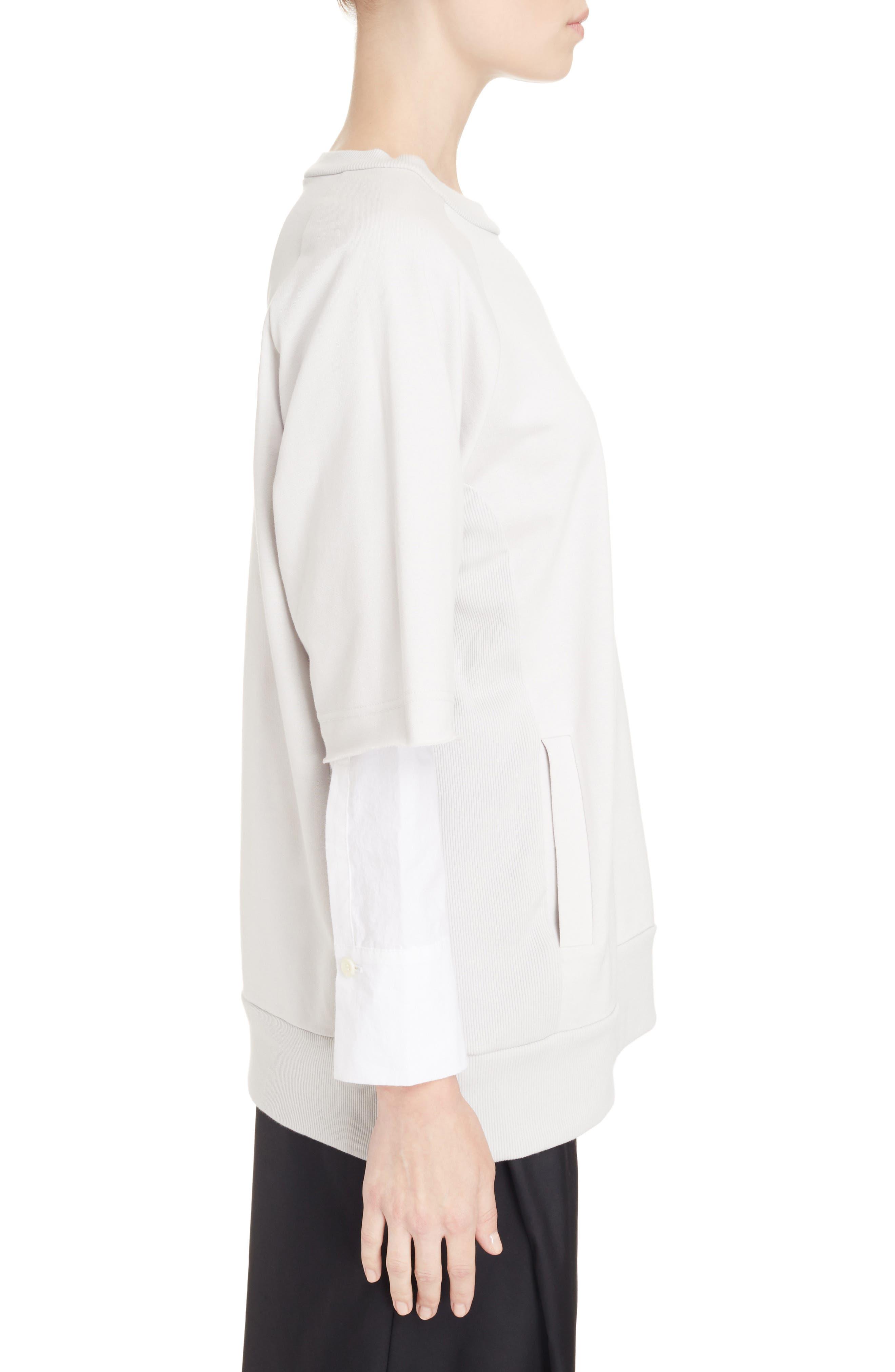 Alternate Image 3  - Y's by Yohji Yamamoto Double Sleeve Sweatshirt
