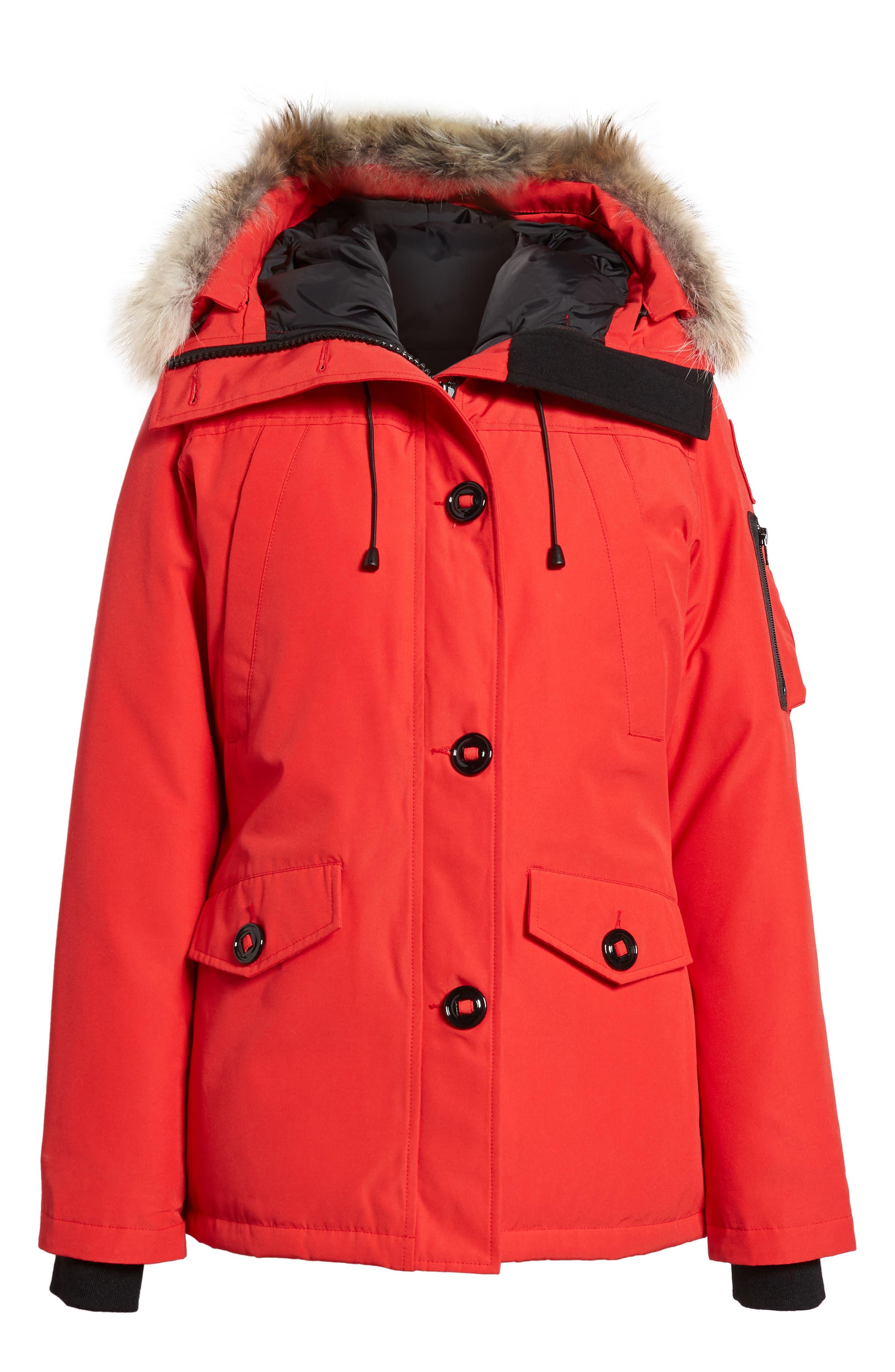 Alternate Image 1 Selected - Canada Goose Montebello Slim Fit Down Parka with Genuine Coyote Fur Trim