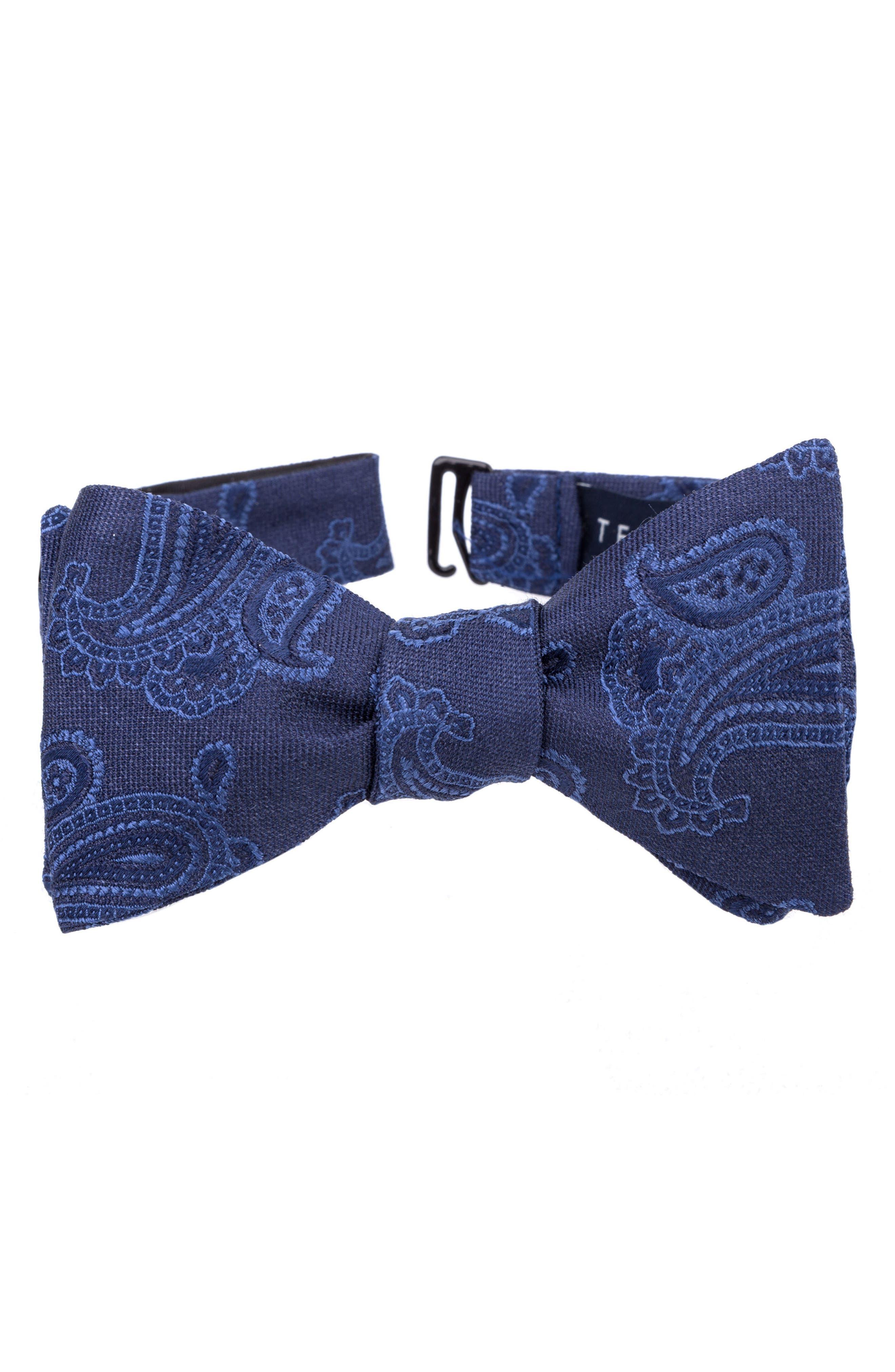Indigo Wardrobe Silk Bow Tie,                         Main,                         color, Sapphire