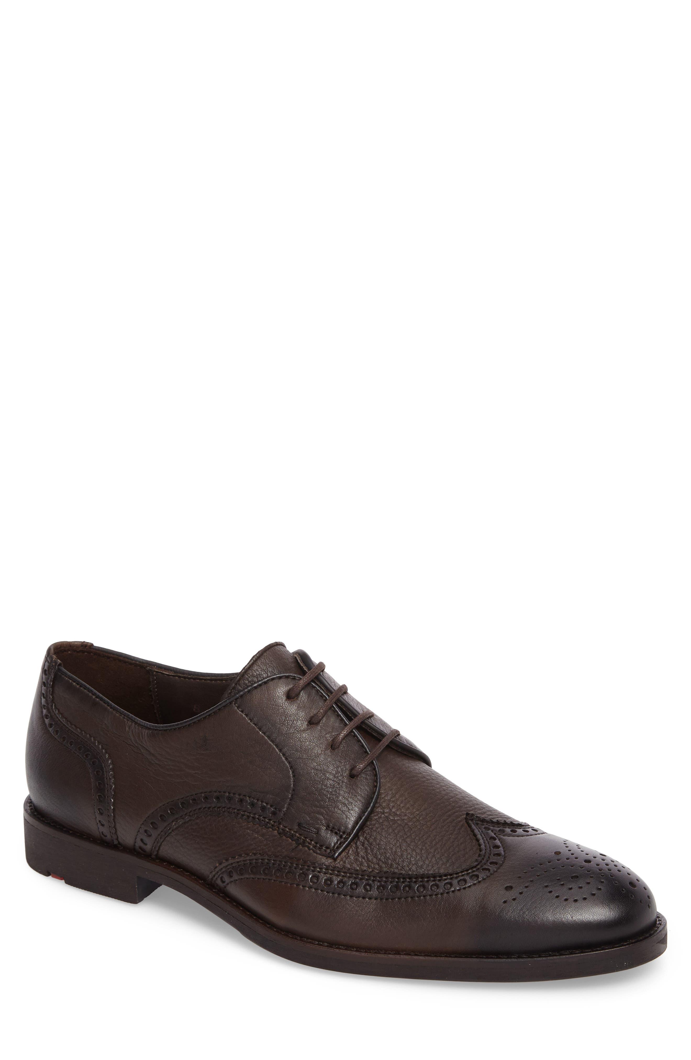 Rinaldi Wingtip,                         Main,                         color, Ebano Leather