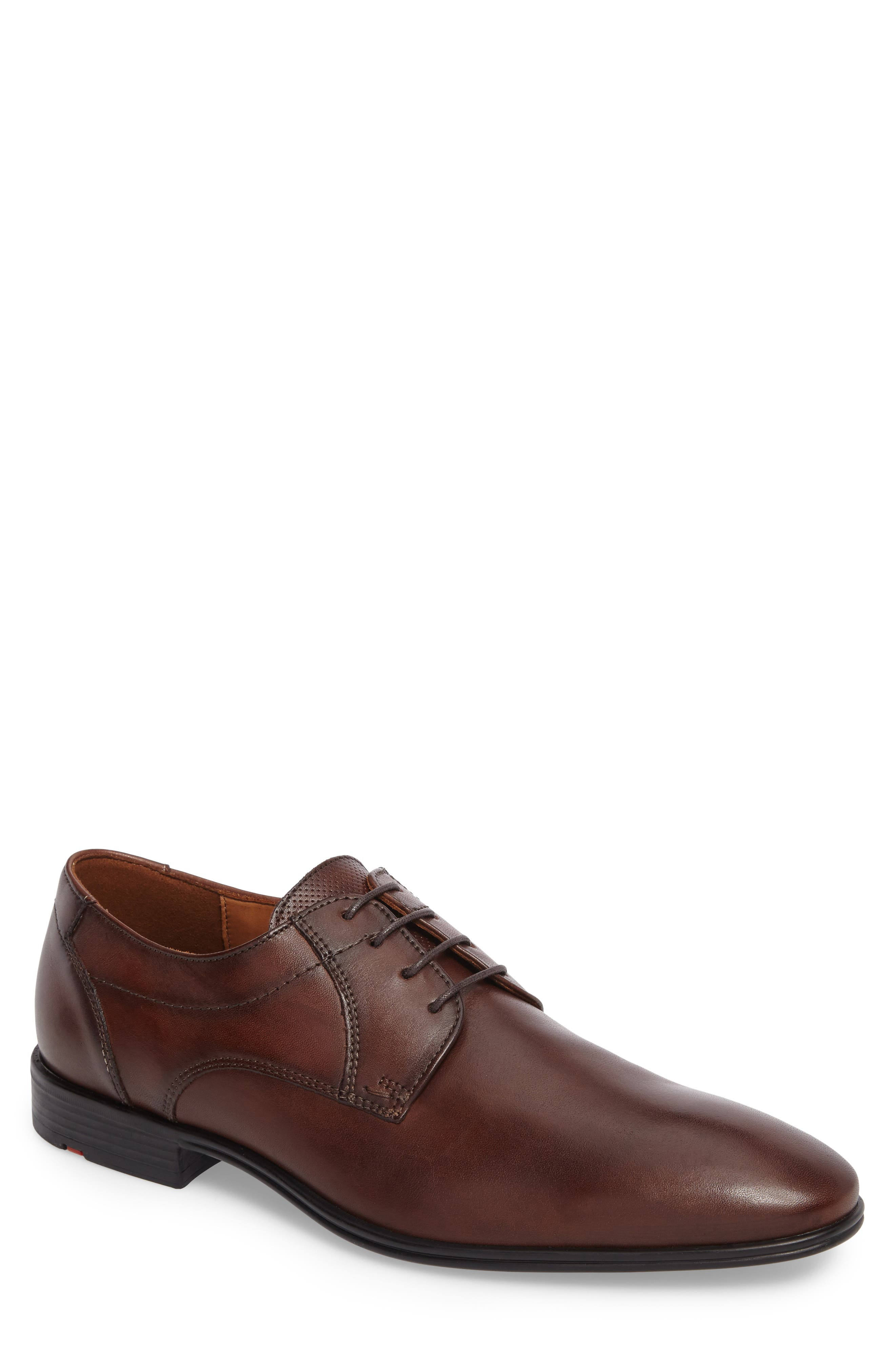 Osmond Plain Toe Derby,                             Main thumbnail 1, color,                             T.D.Moro Leather