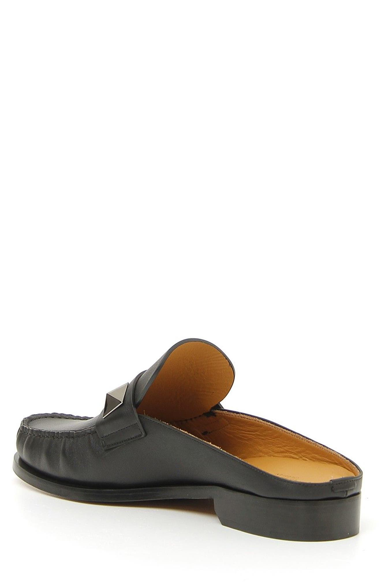Lock Loafer Mule,                             Alternate thumbnail 2, color,                             Nero