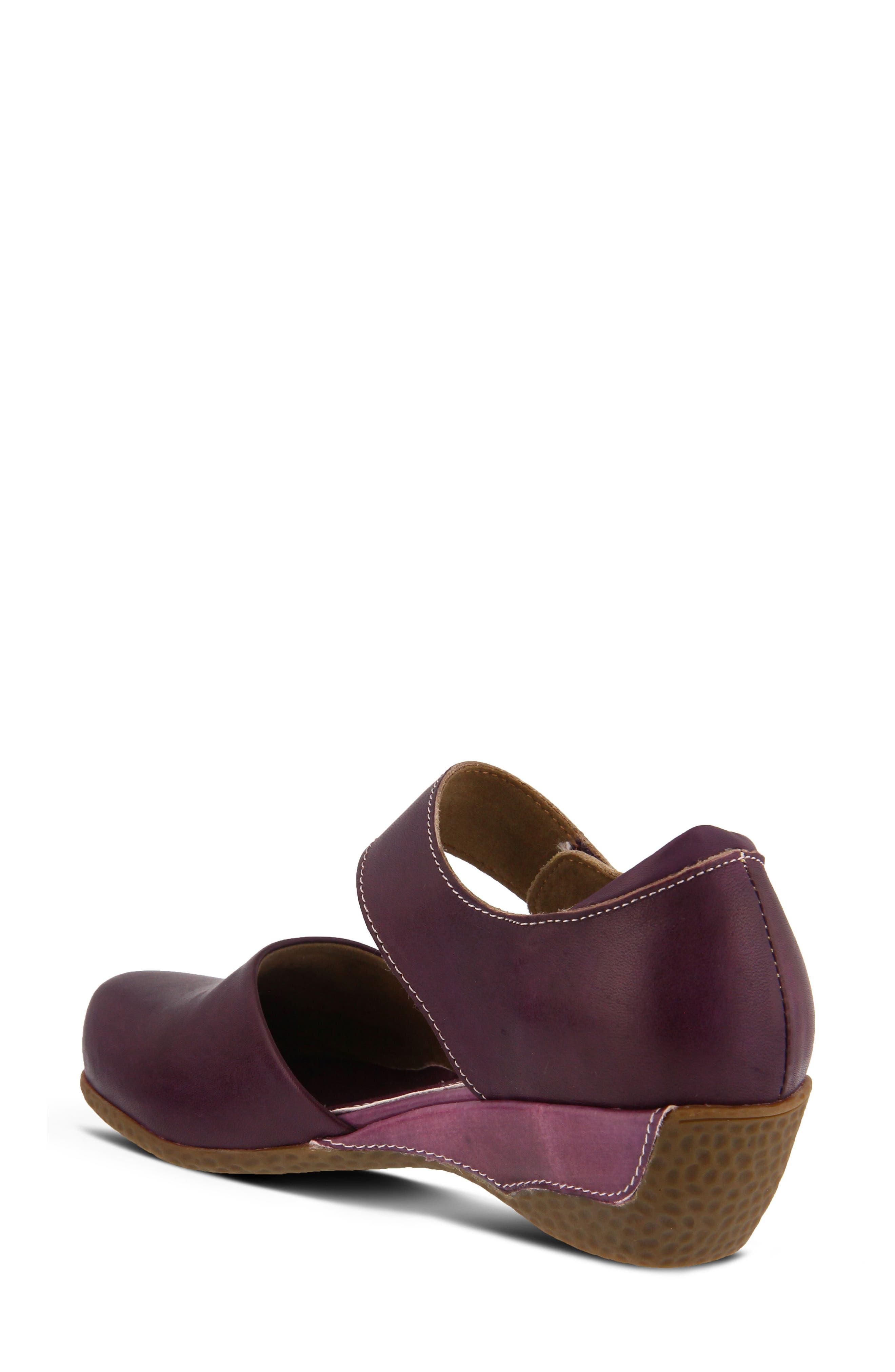 L'Artiste Gloss Mary Jane Pump,                             Alternate thumbnail 2, color,                             Purple Leather
