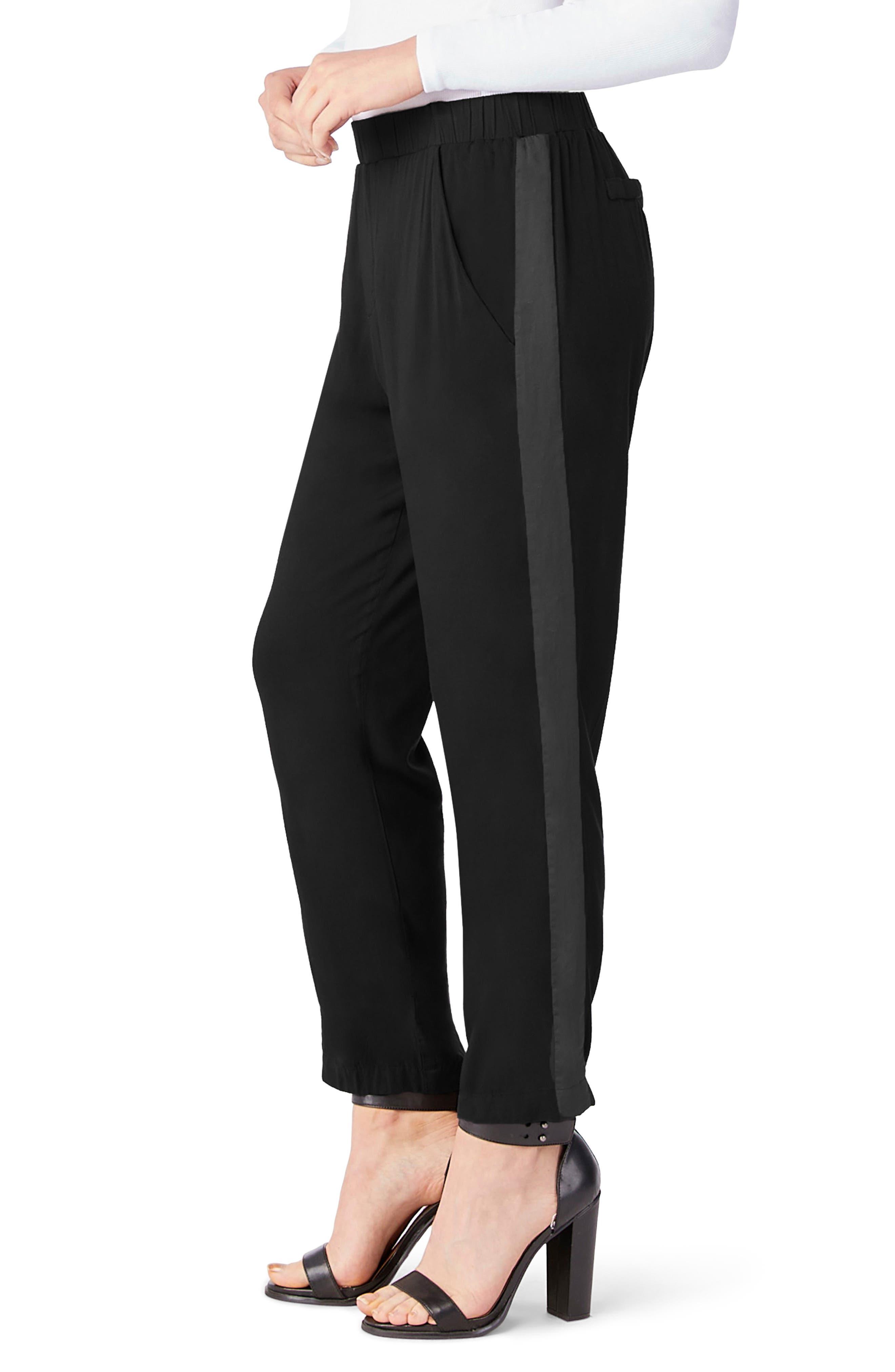 Tuxedo Pants,                             Alternate thumbnail 3, color,                             Black