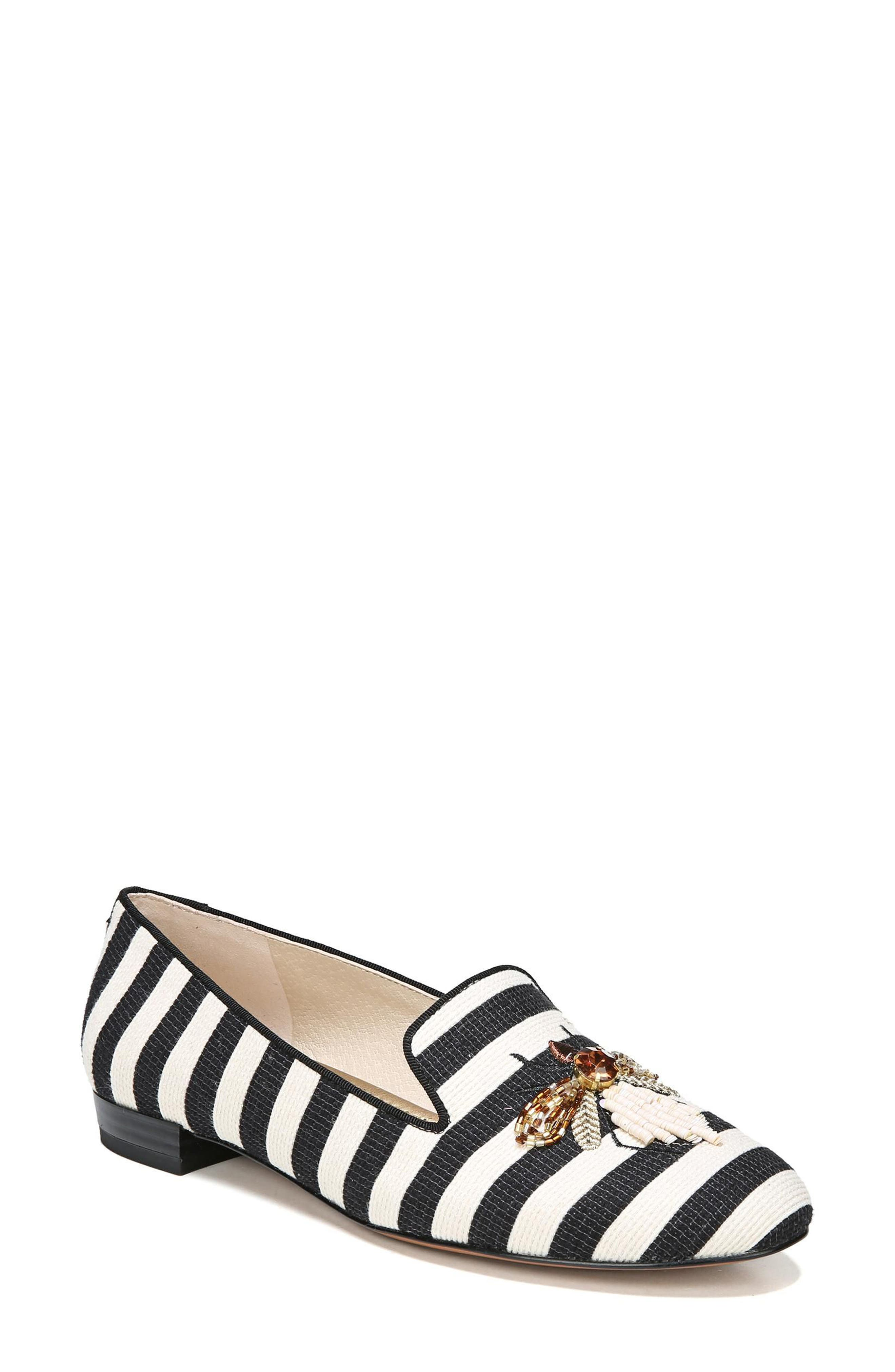 Jill Loafer,                         Main,                         color, Ivory/ Black Stripe