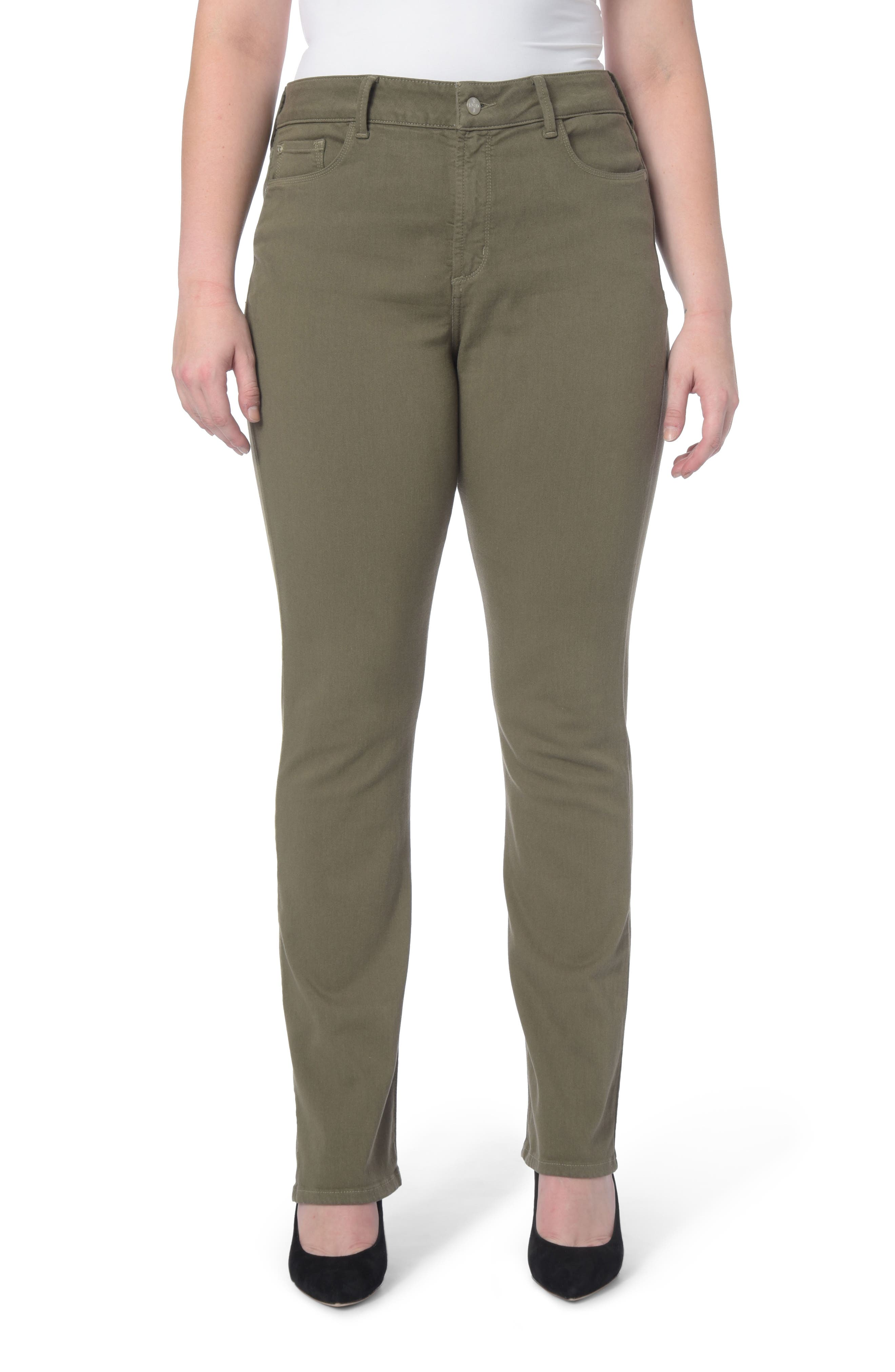 Alternate Image 1 Selected - NYDJ Marilyn Stretch Straight Leg Jeans (Plus Size)