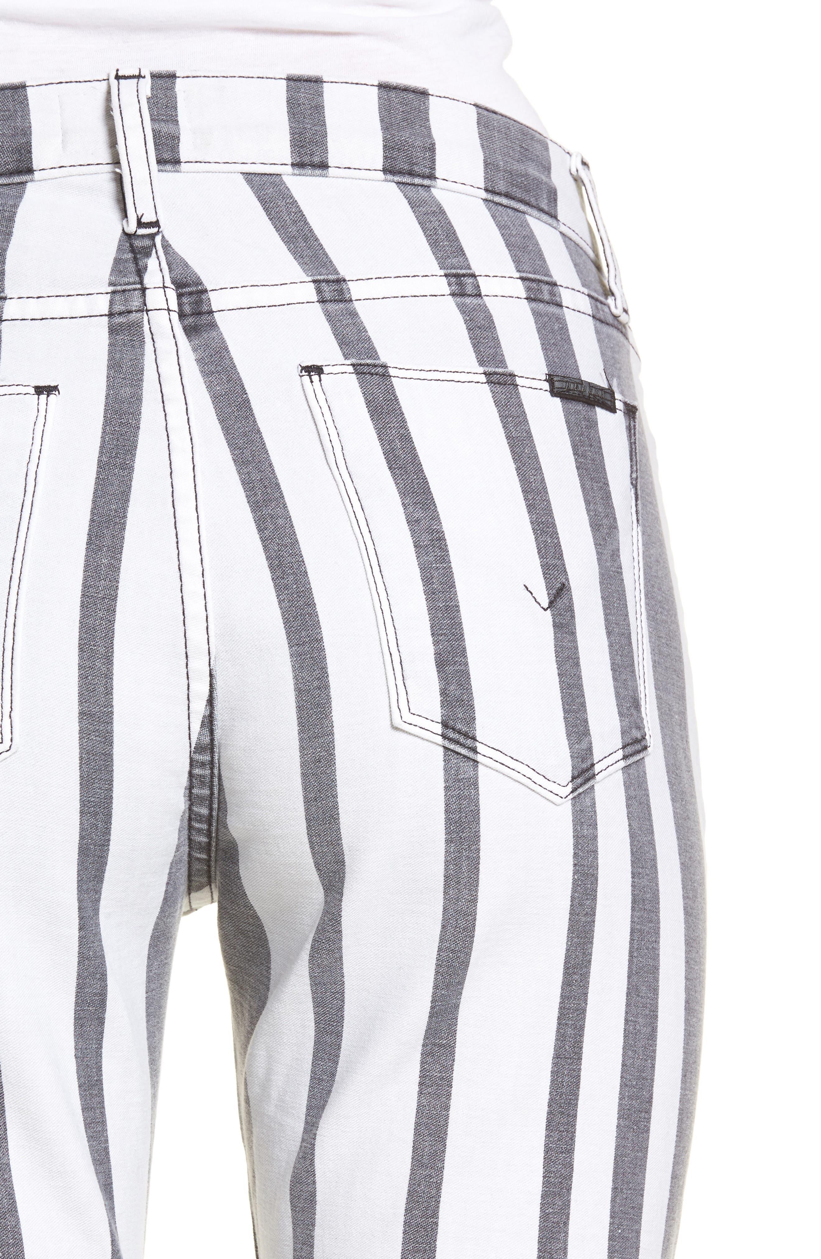Barbara High Waist Ankle Super Skinny Jeans,                             Alternate thumbnail 4, color,                             Undertaking
