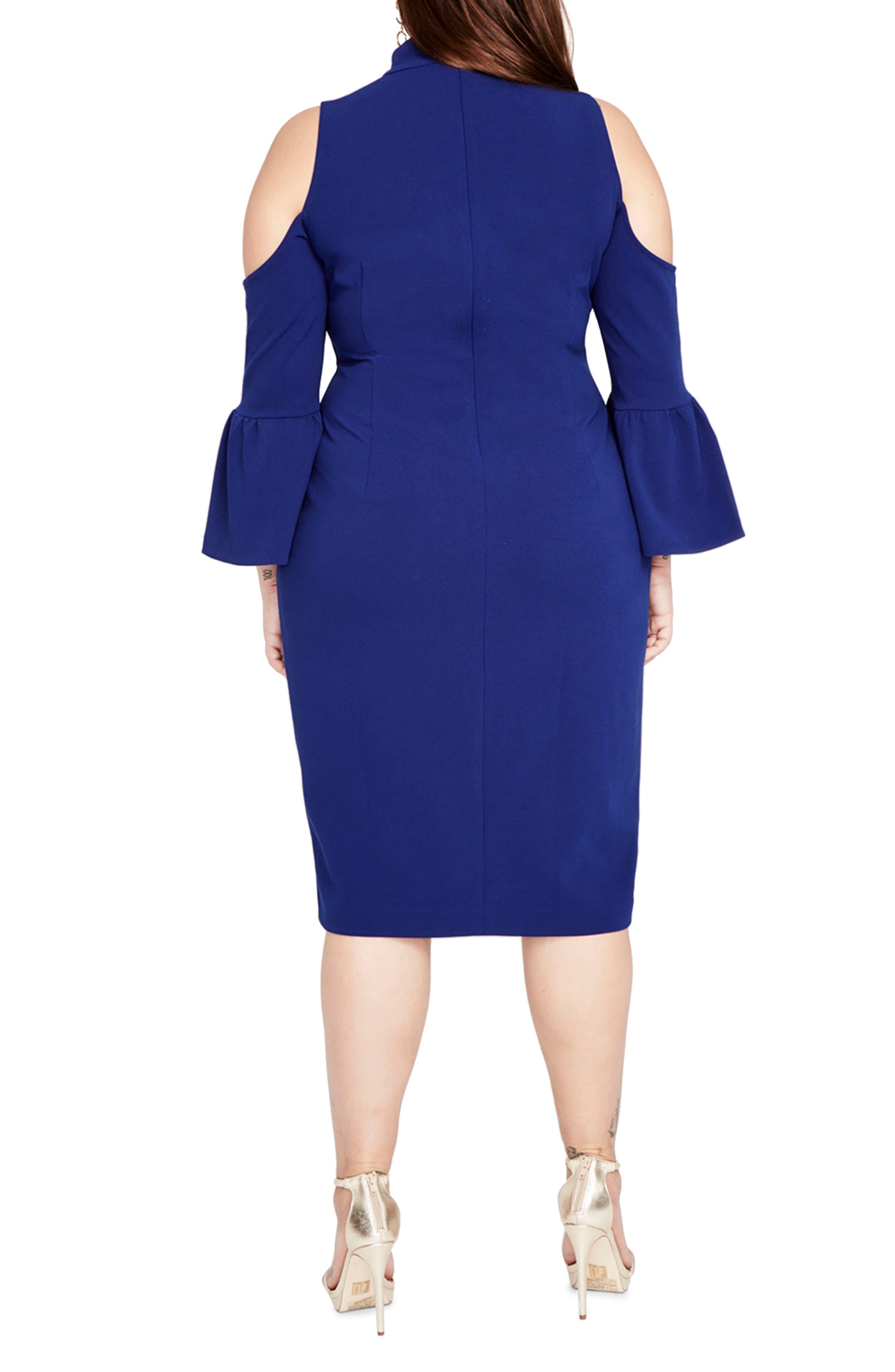 Alternate Image 2  - RACHEL Rachel Roy Cold Shoulder Choker Neck Dress (Plus Size)