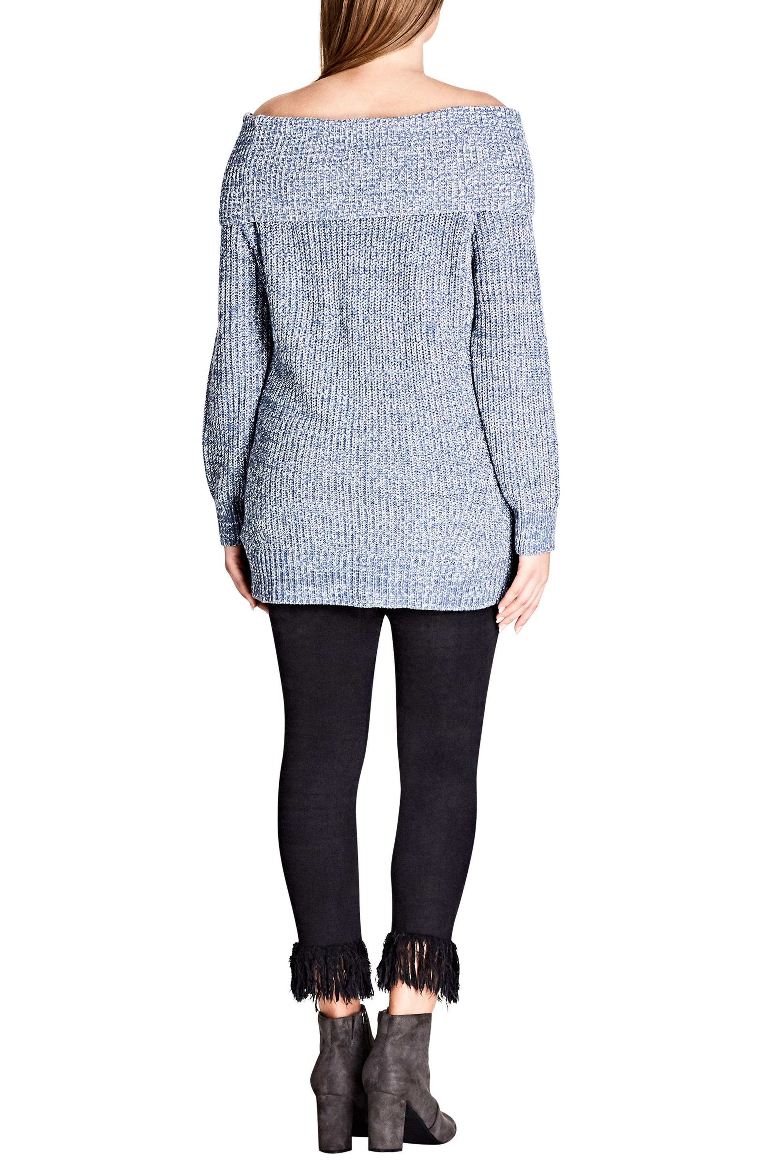 Intertwine Convertible Lace-Up Pullover,                             Alternate thumbnail 2, color,                             Indigo