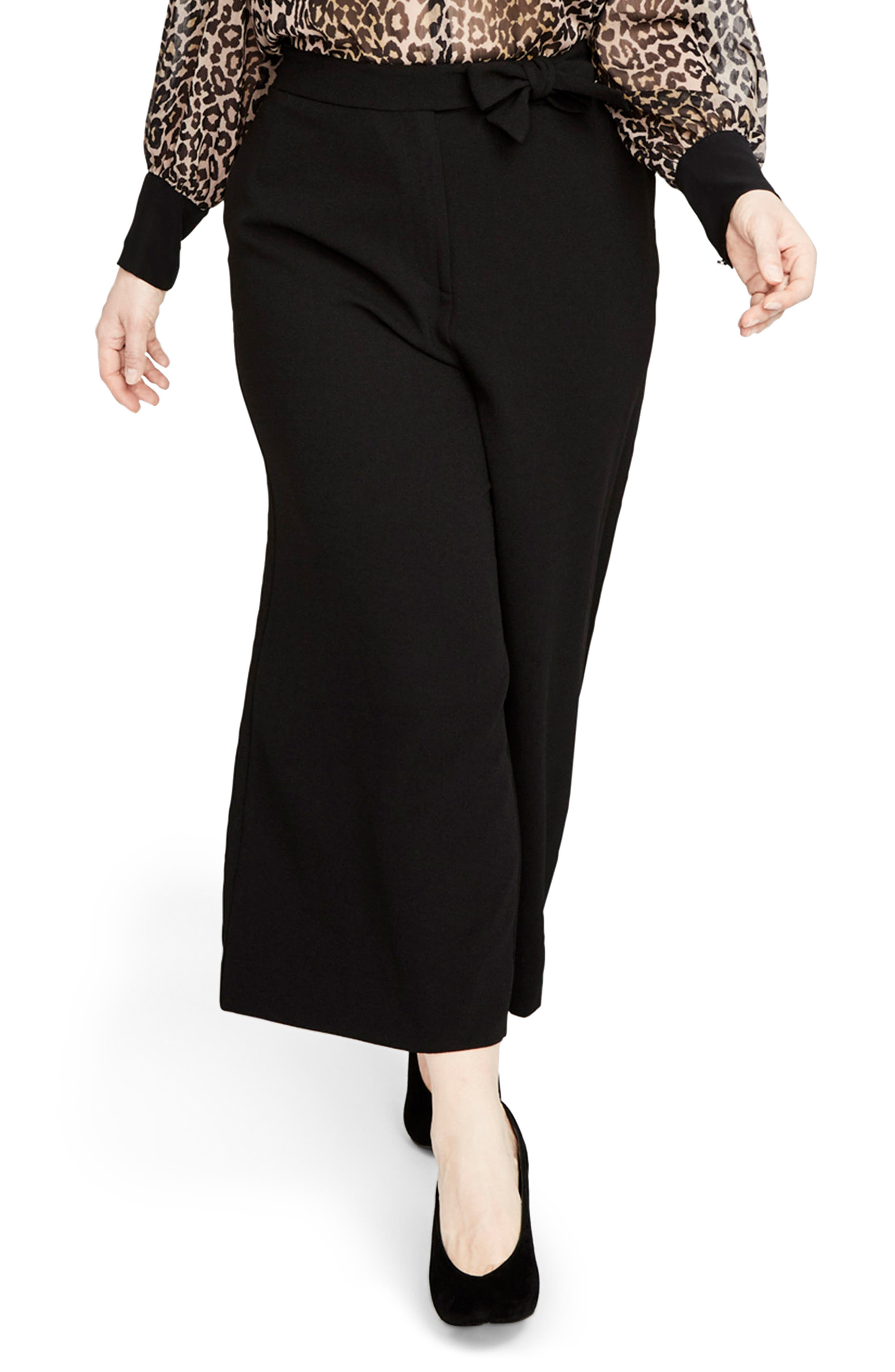 Cuffed Flare Pants,                         Main,                         color, Black