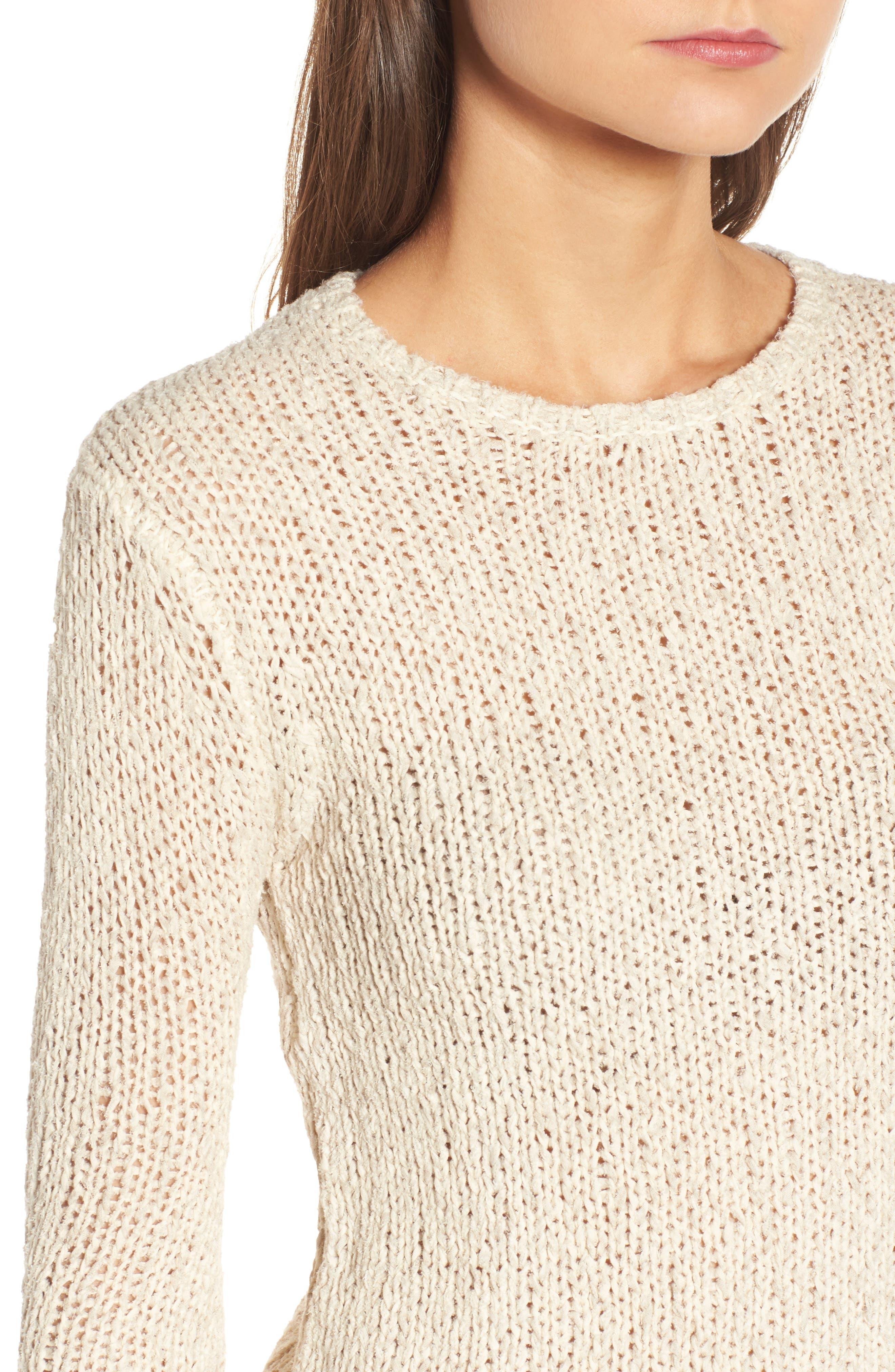 Open Stitch Sweater,                             Alternate thumbnail 4, color,                             Vintage