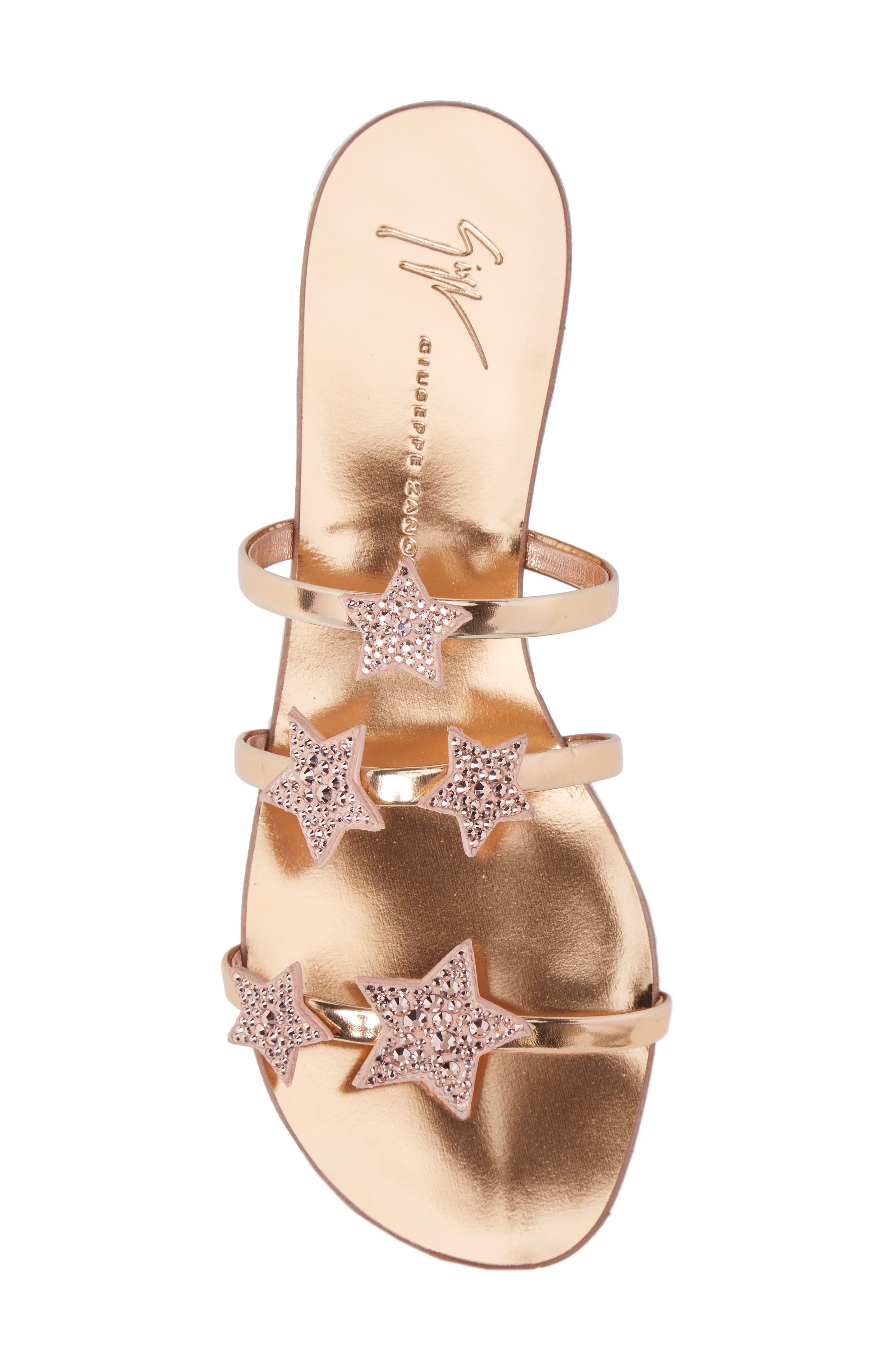 Nuvoroll Star Sandal,                             Alternate thumbnail 5, color,                             Rose Gold