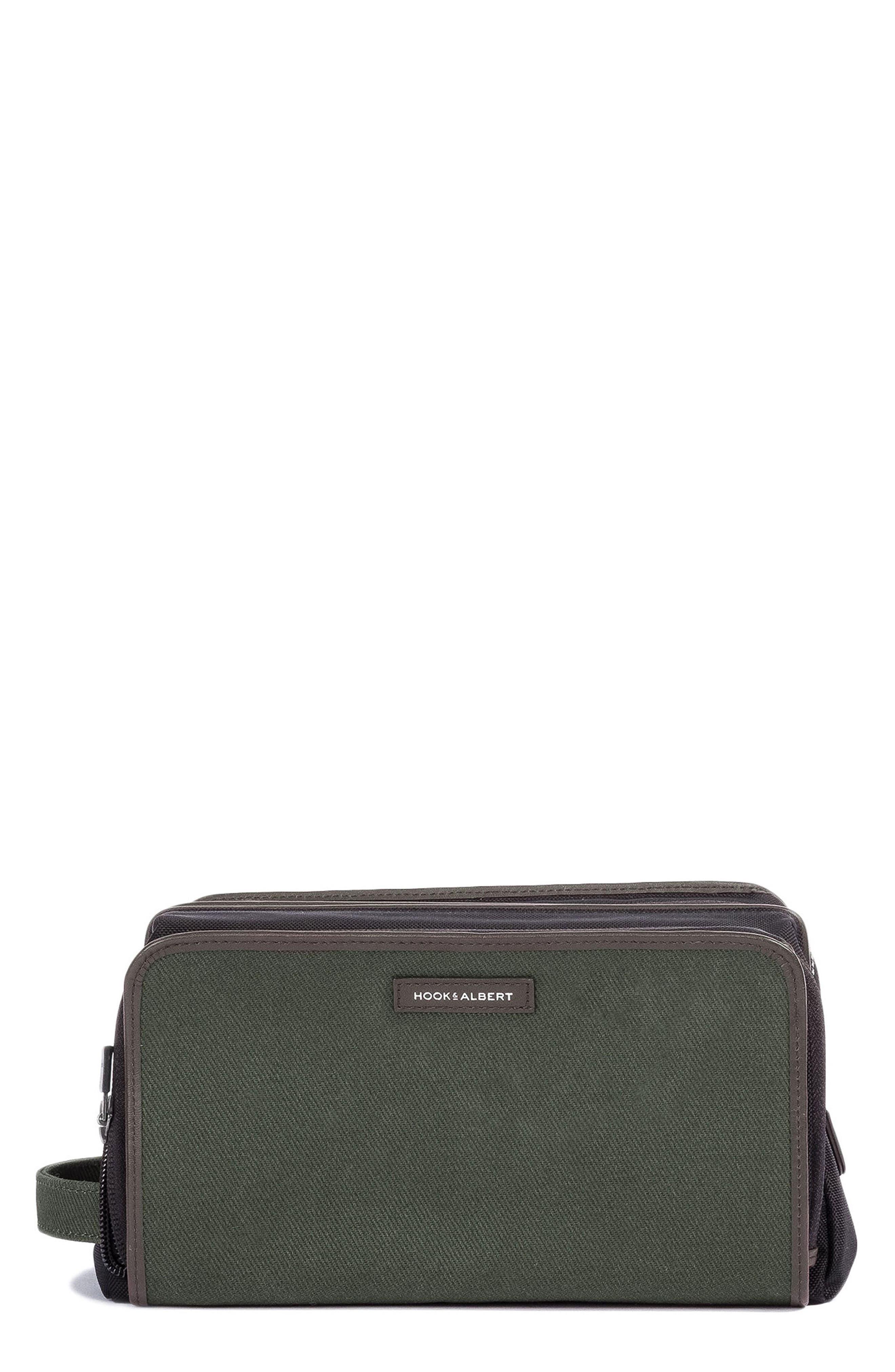 Twill Dopp Kit,                         Main,                         color, Olive