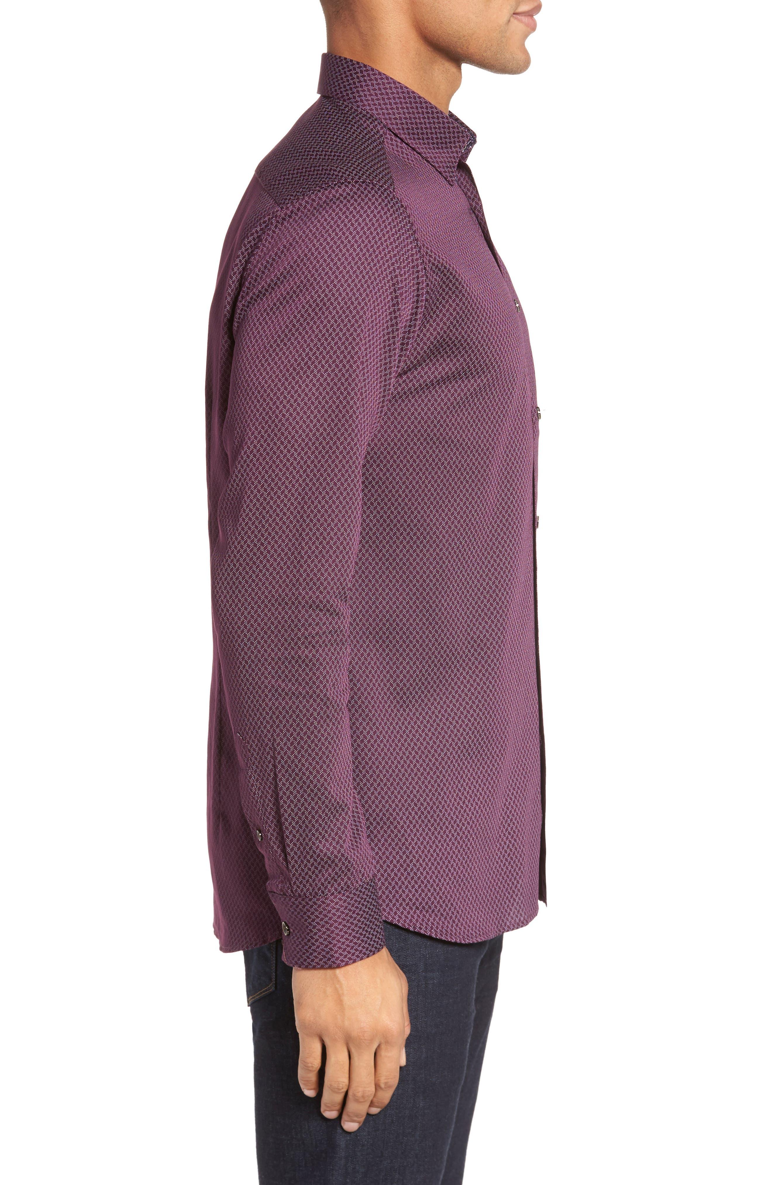 Alternate Image 3  - Ted Baker London Modern Slim Fit Print Sport Shirt