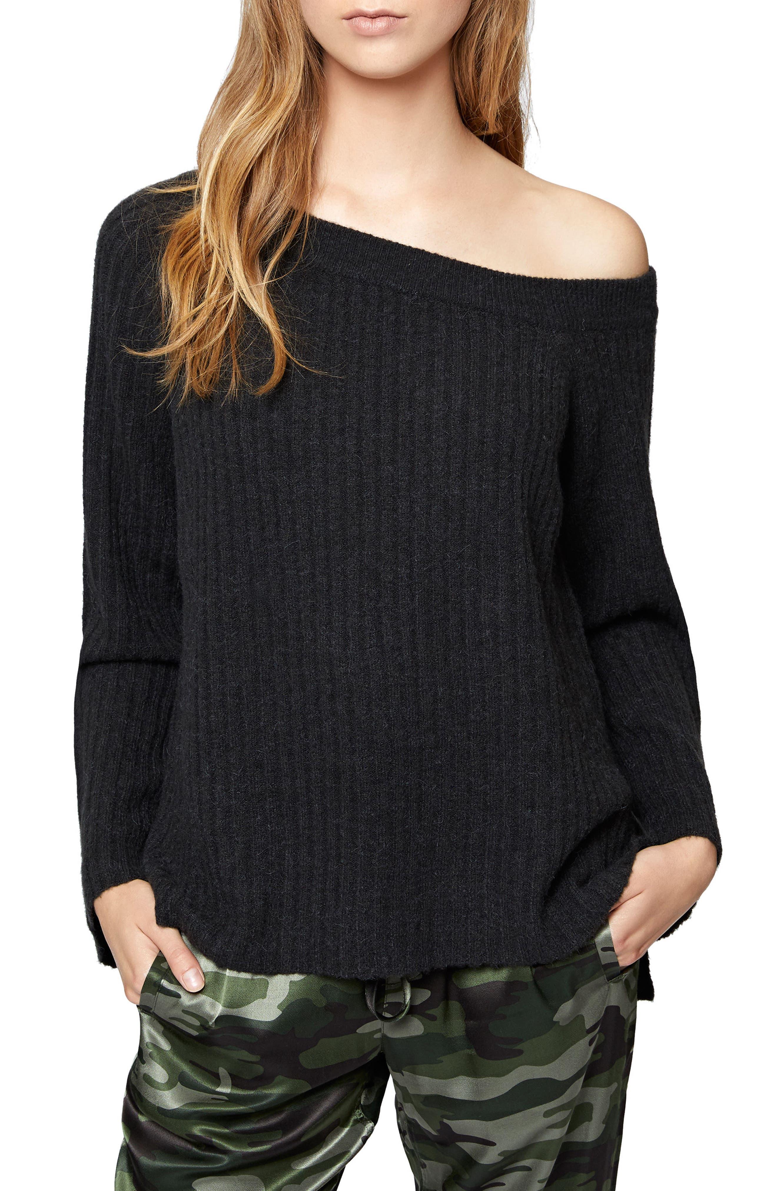 Alternate Image 1 Selected - Sanctuary Aurelia One-Shoulder Sweater (Regular & Petite)