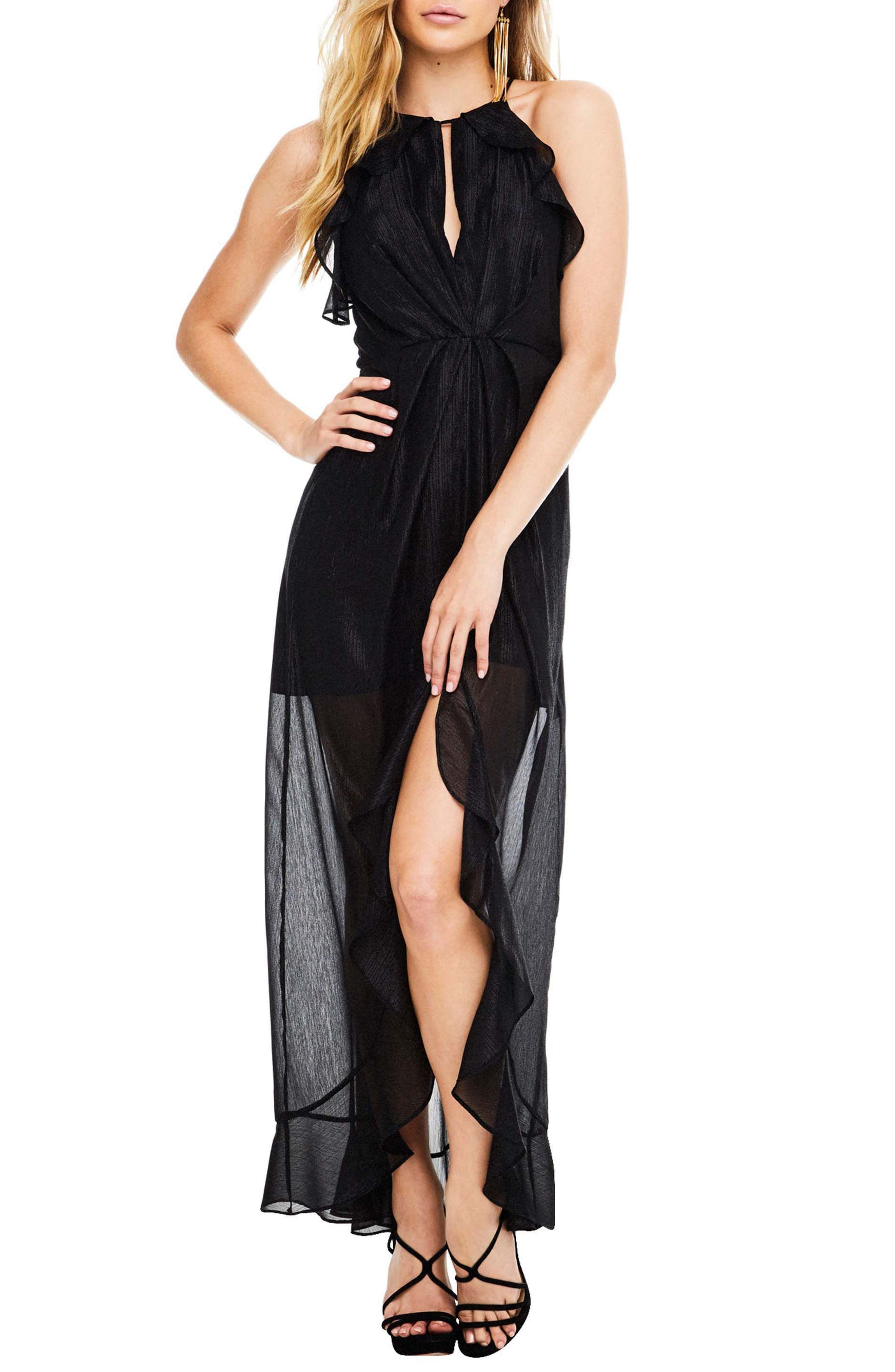 Arielle Maxi Dress,                         Main,                         color, Black Shimmer