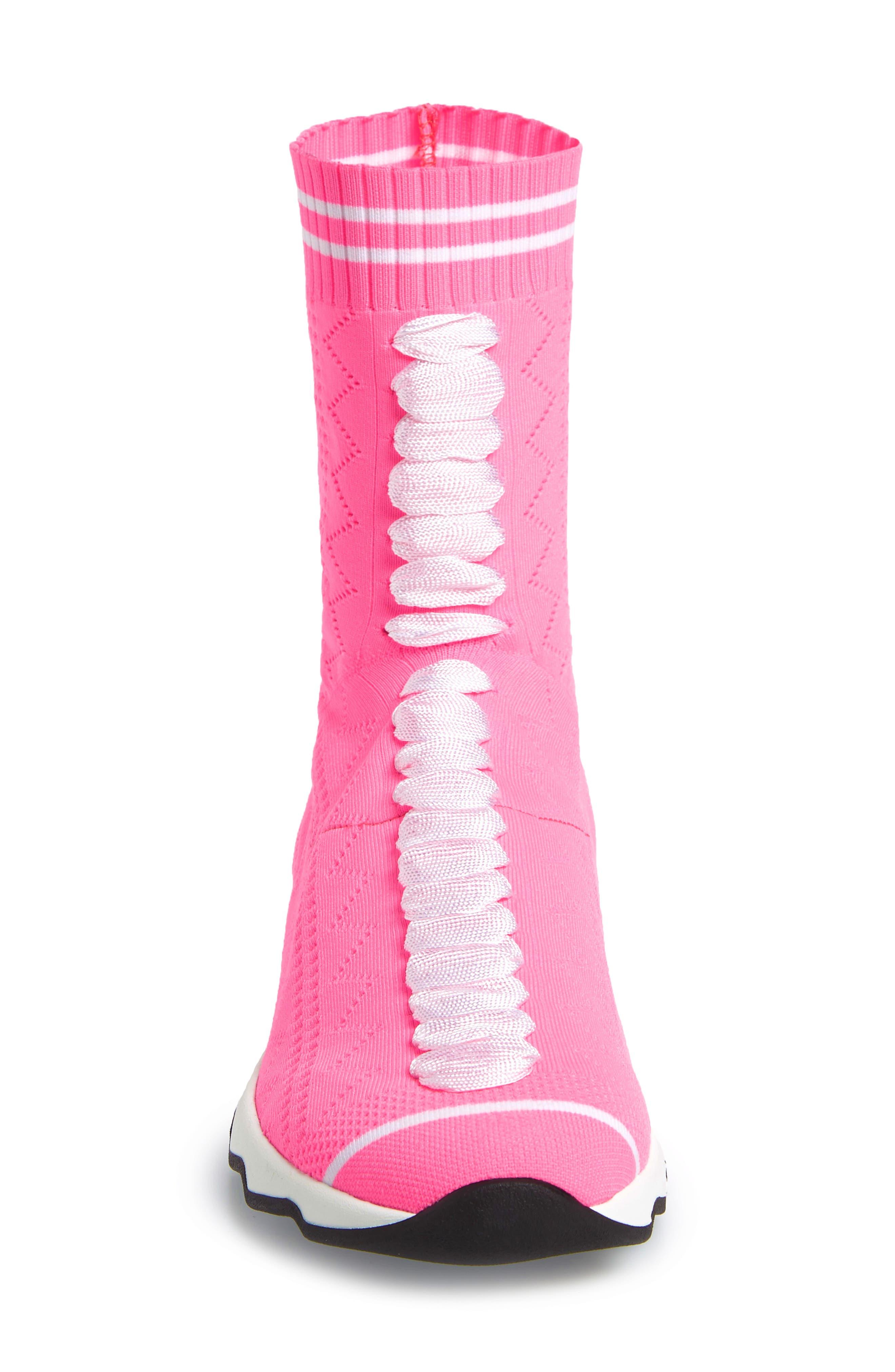 Rocko-Top Sock Sneaker,                             Alternate thumbnail 5, color,                             Pink