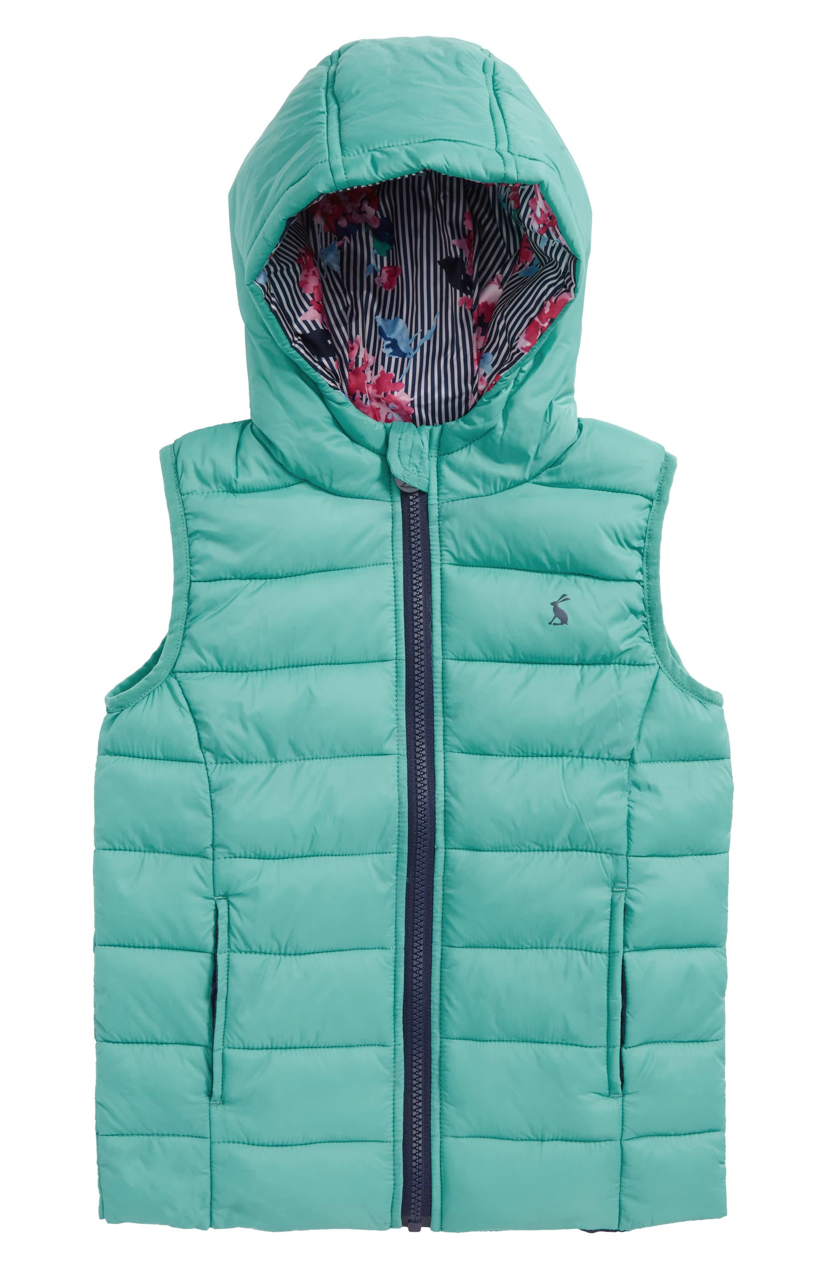76b74989e3ec Joules Printed Packaway Vest (Toddler Girls   Little Girls)