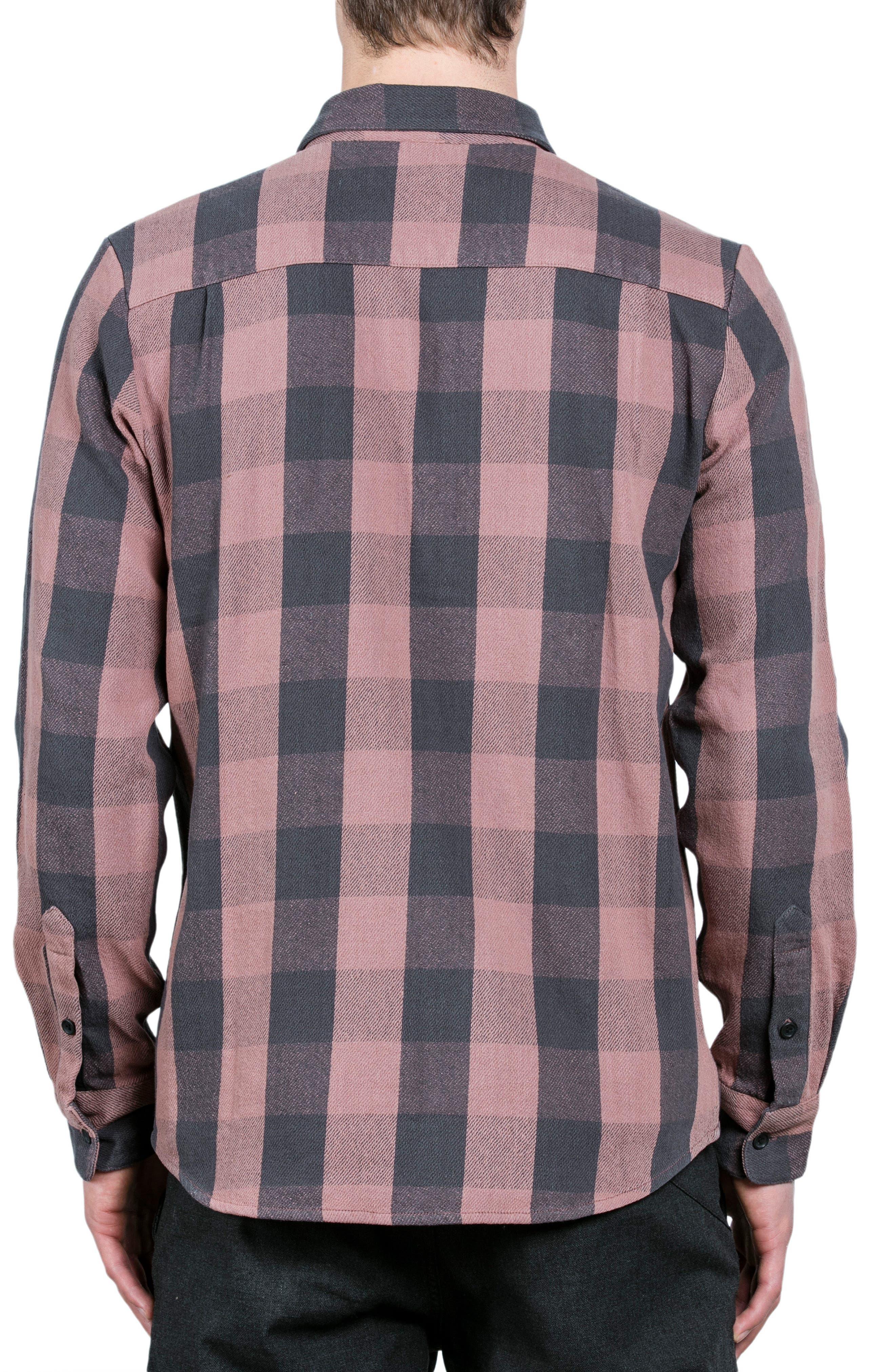 Invert Check Flannel Shirt,                             Alternate thumbnail 2, color,                             Brown