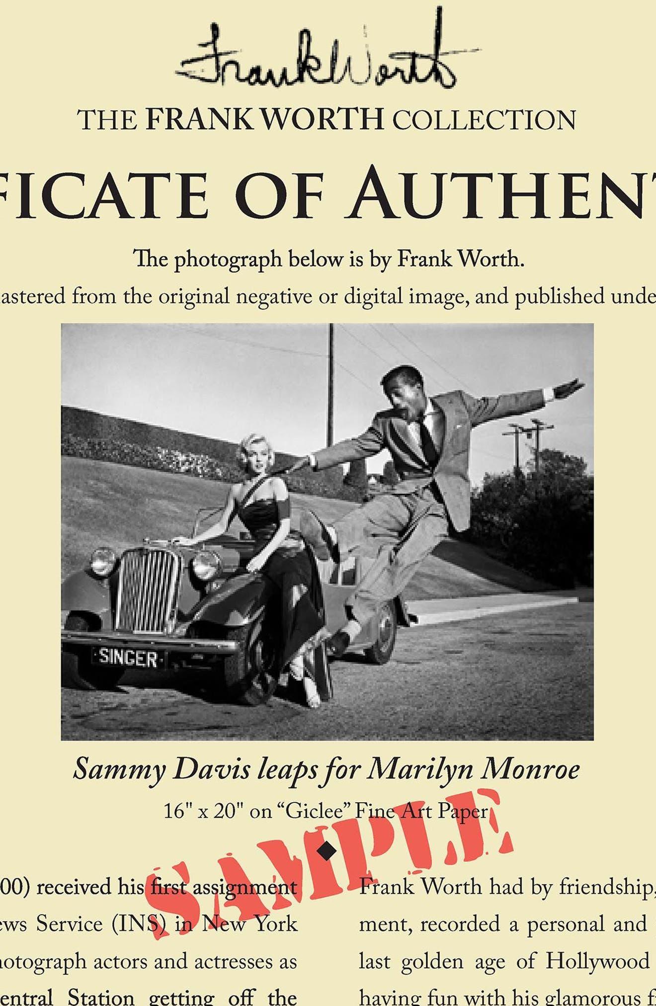 Alternate Image 4  - Artography Limited Marilyn Monroe & Sammy Davis Jr. Fine Art Print