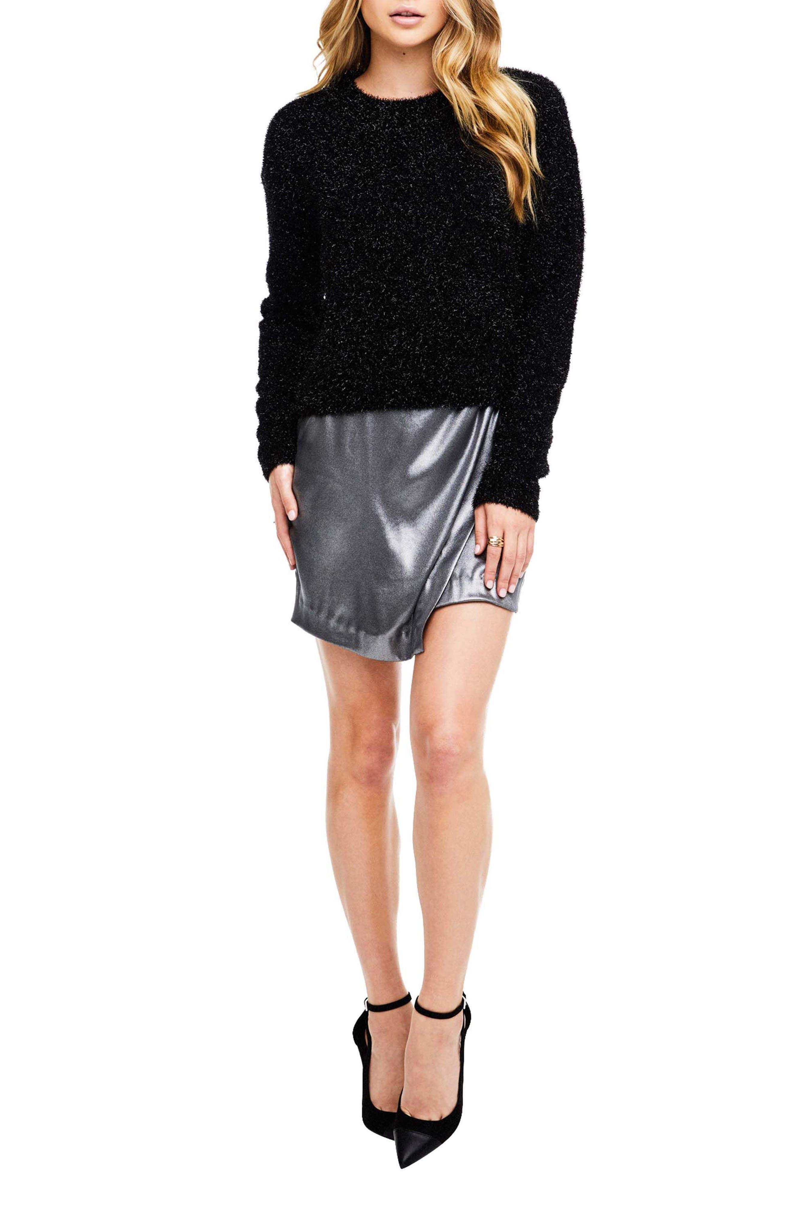 Nell Mini Skirt,                         Main,                         color, Gunmetal