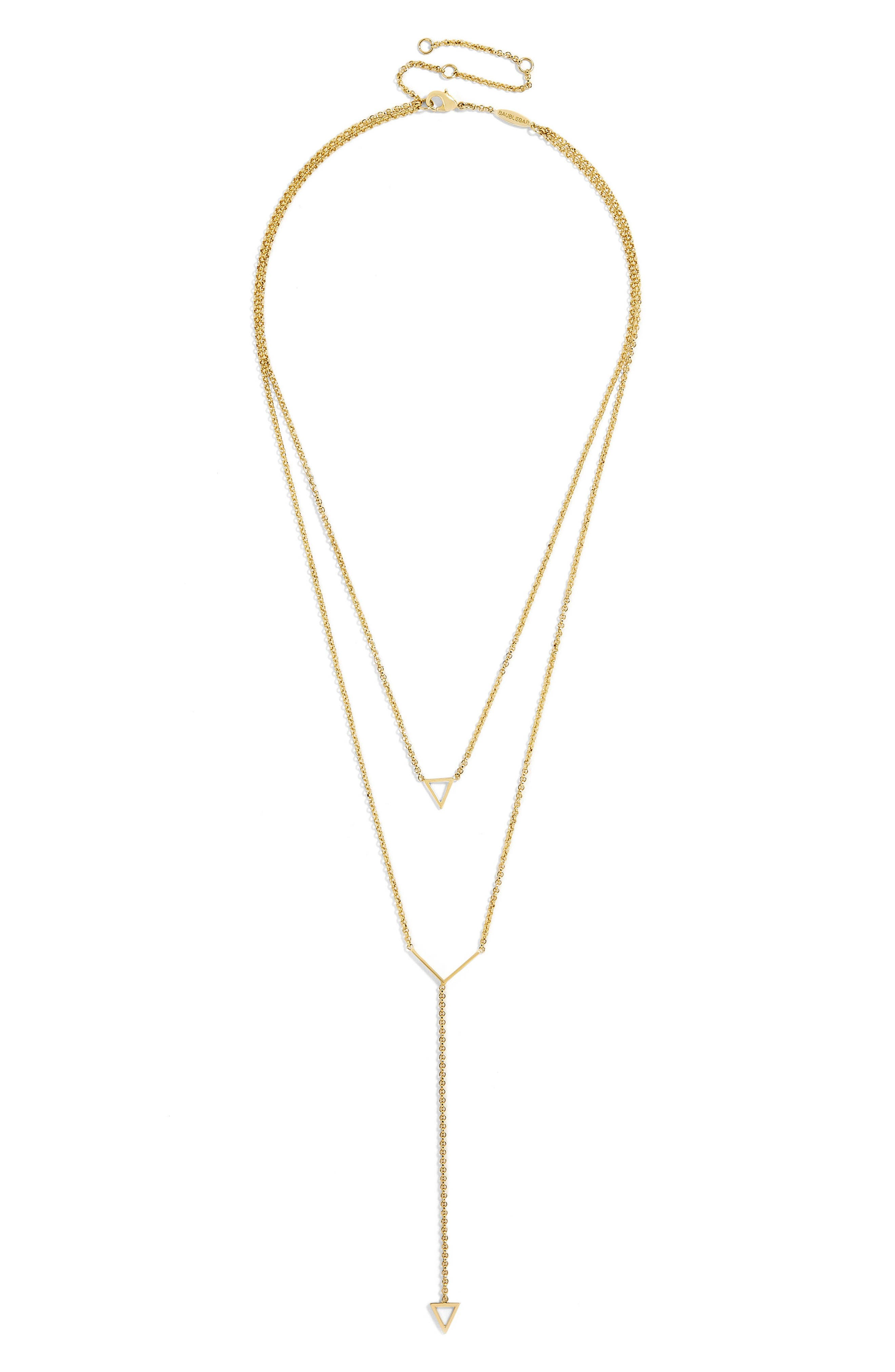 Sofia Layered Necklace,                             Main thumbnail 1, color,                             Gold