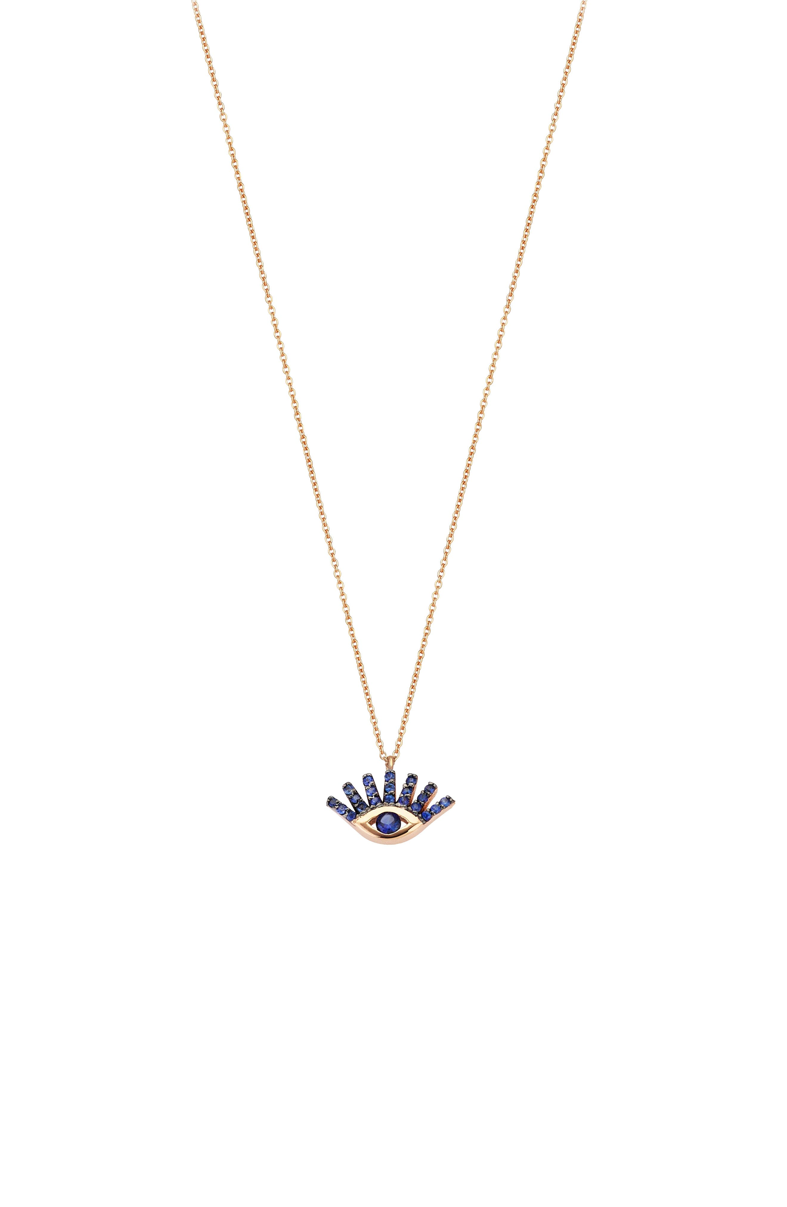 Kismet by Milka Sapphire Pendant Necklace