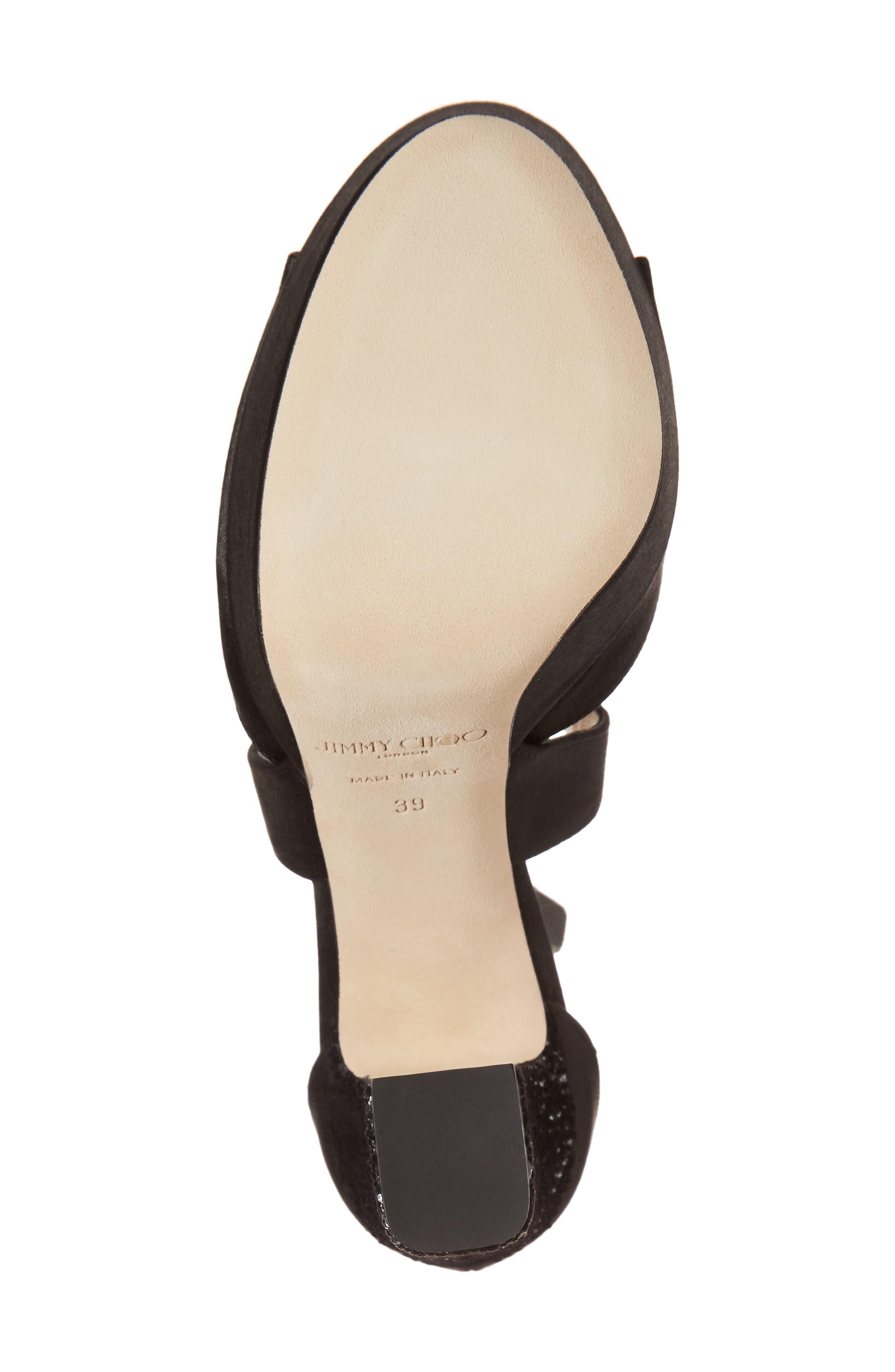 April Platform Sandal,                             Alternate thumbnail 6, color,                             Black/ Anthracite/ Black