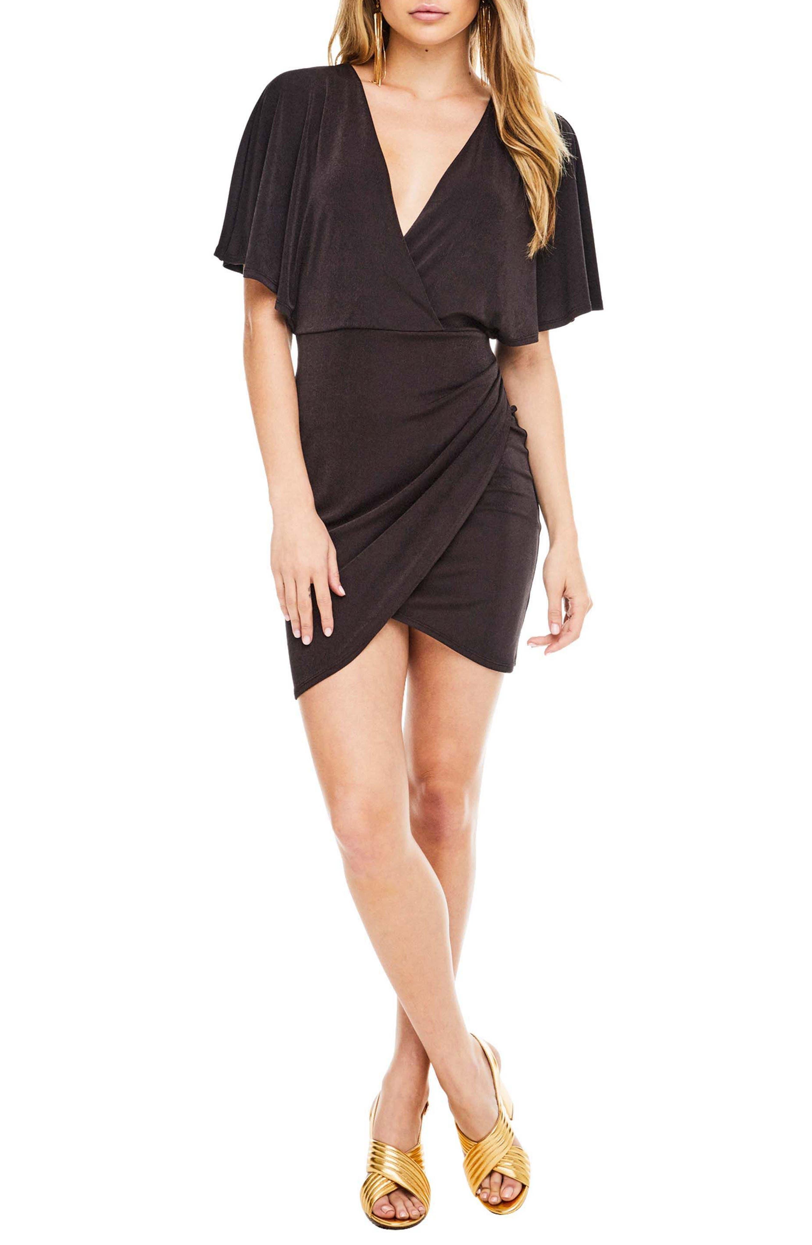 Haley Dolman Sleeve Dress,                             Main thumbnail 1, color,                             Coal