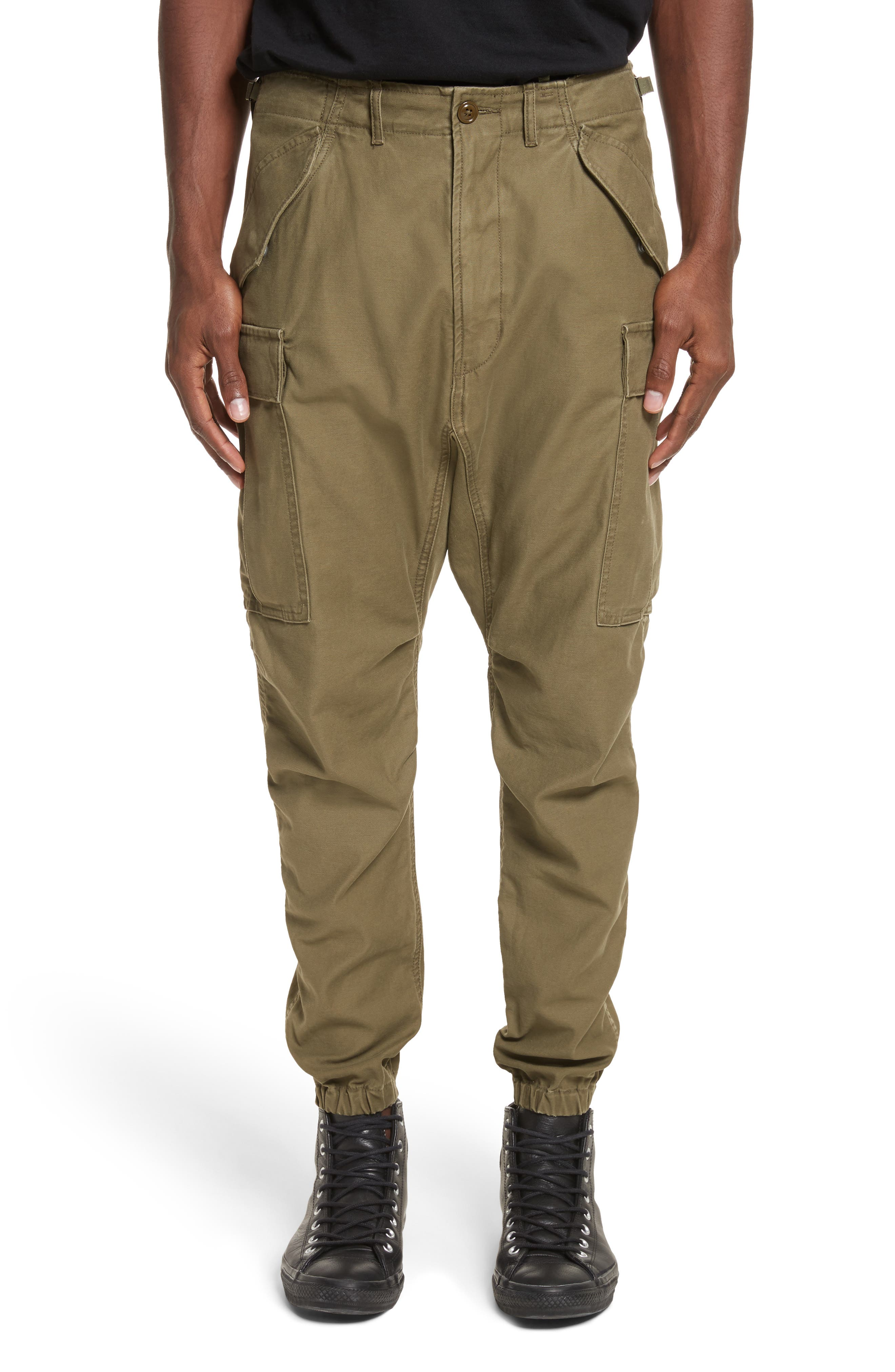 Surplus Military Cargo Pants,                         Main,                         color, Olive