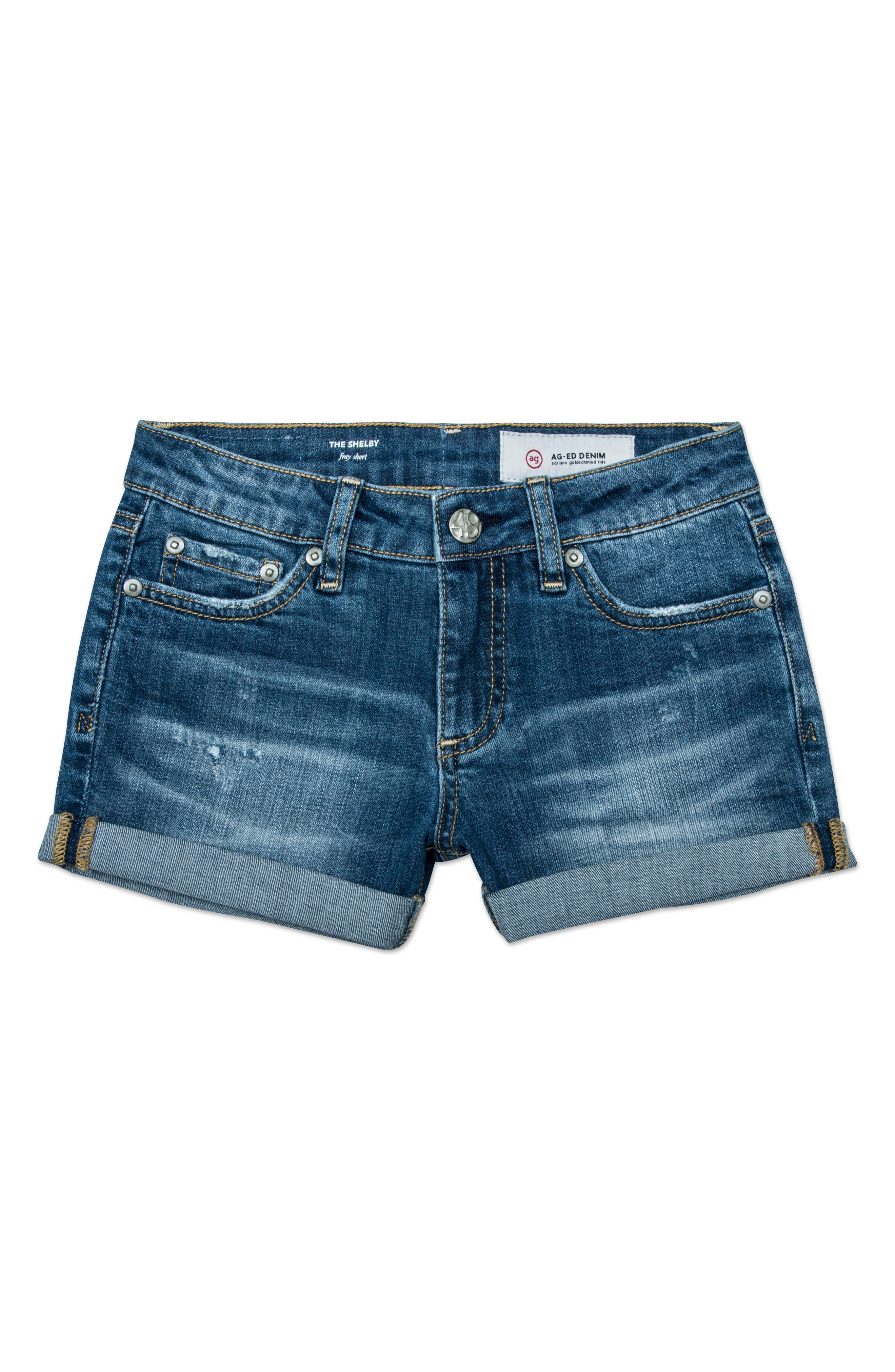 The Heather Roll Cuff Shorts,                             Main thumbnail 1, color,                             Steam