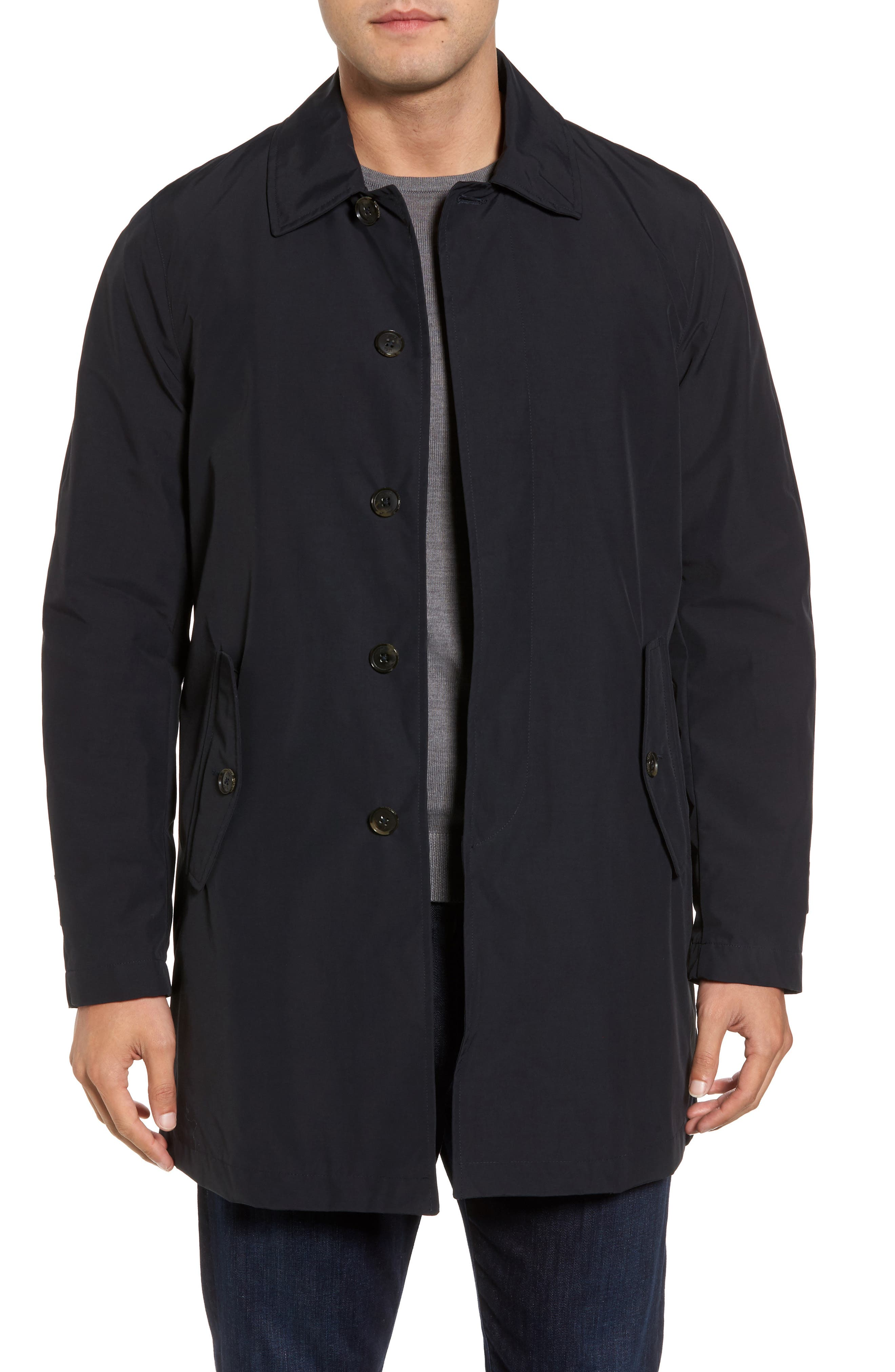Waterproof Coat with Removable Liner,                             Main thumbnail 1, color,                             Dark Navy